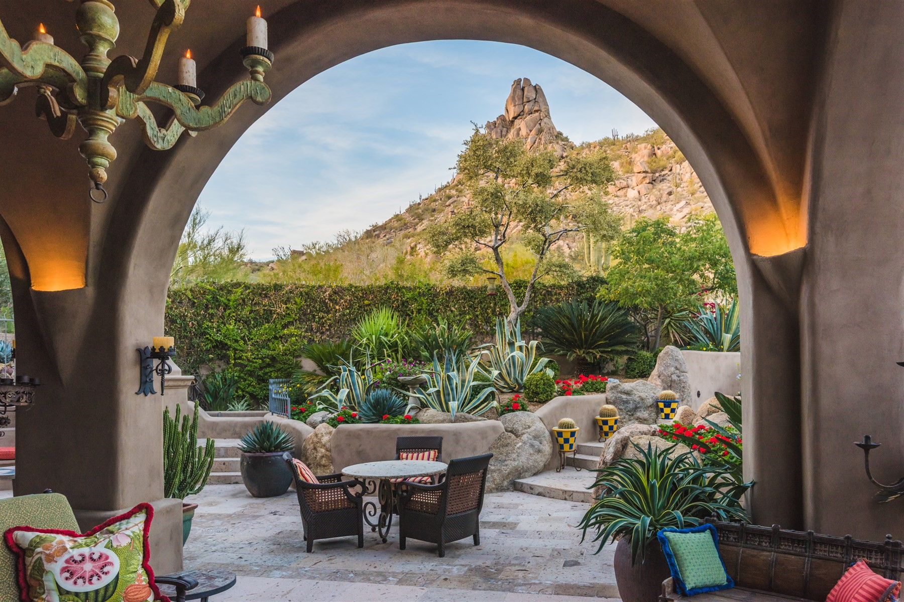 Single Family Home for Sale at Spectacular home nestled at the base of Pinnacle Peak 10040 E HAPPY VALLEY RD 787 Scottsdale, Arizona 85255 United States