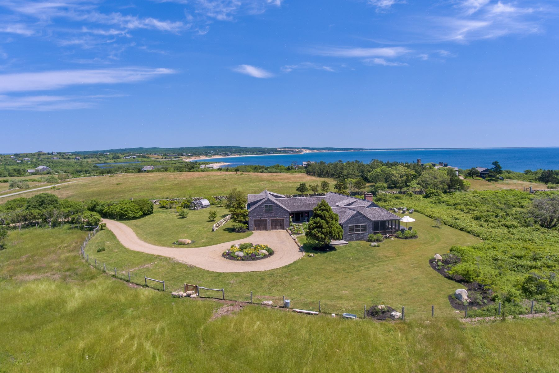 Single Family Homes for Sale at Exclusive Squibnocket Farm Waterview Estate 18 Spruce Gate Road Chilmark, Massachusetts 02535 United States
