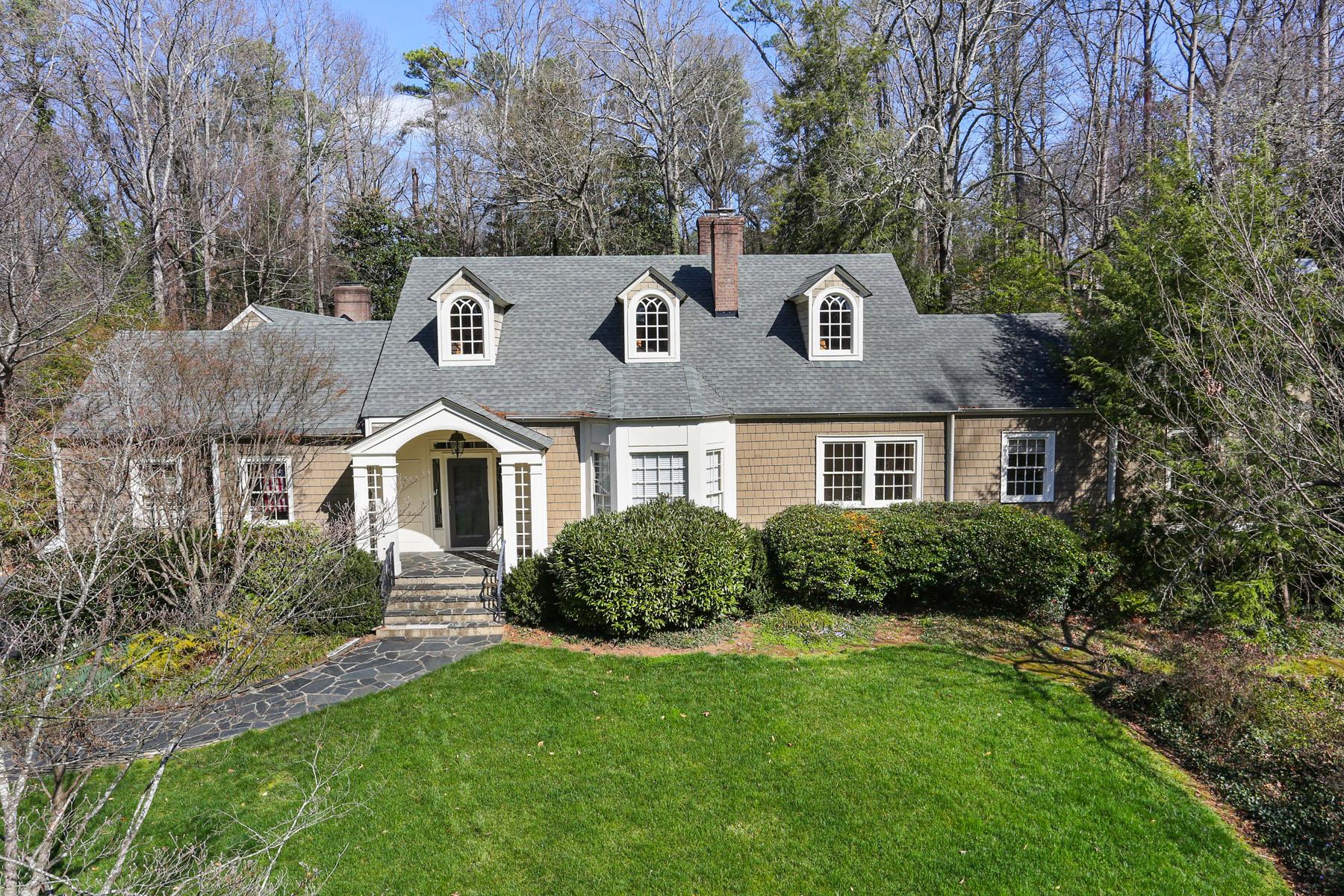 Tek Ailelik Ev için Satış at Charming Cape Cod Nestled on 1.5 Acre Lot 1225 West Wesley Rd Buckhead, Atlanta, Georgia, 30327 Amerika Birleşik Devletleri