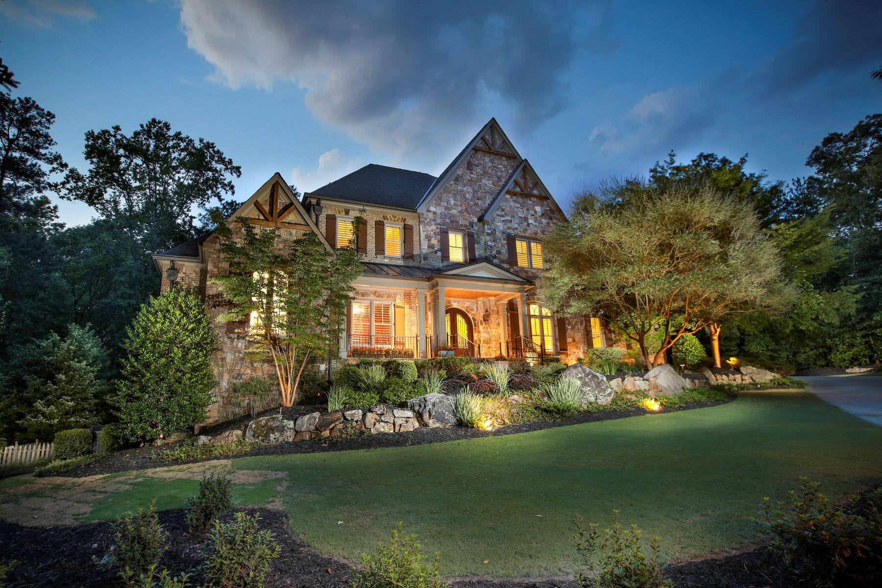 Частный односемейный дом для того Продажа на Private Elegance in Cameron Crest Farms 10550 Belladrum Johns Creek, Джорджия, 30022 Соединенные Штаты