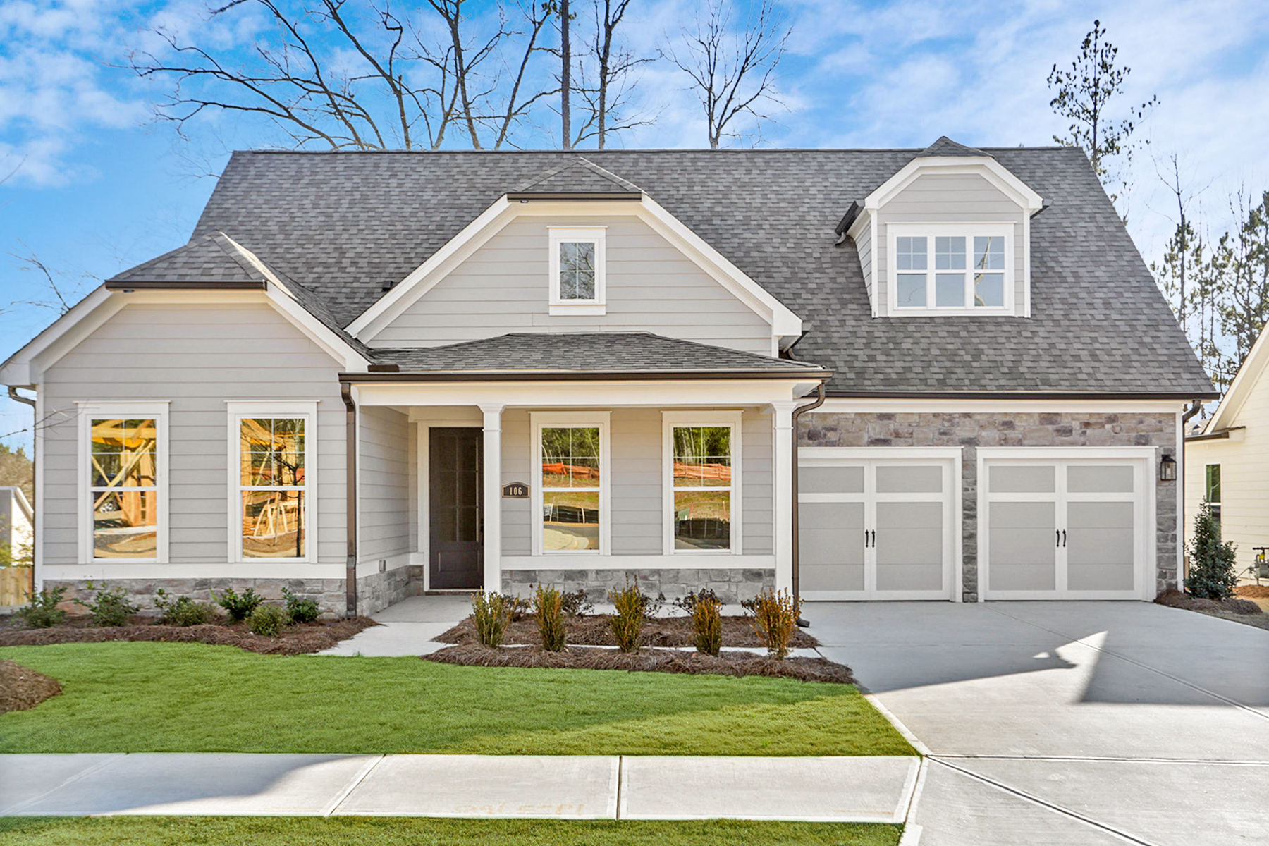 Single Family Homes for Sale at Carefree Living- Welcome To The New Retreat At Oak Grove 106 Oakdale Woods Lane Acworth, Georgia 30102 United States