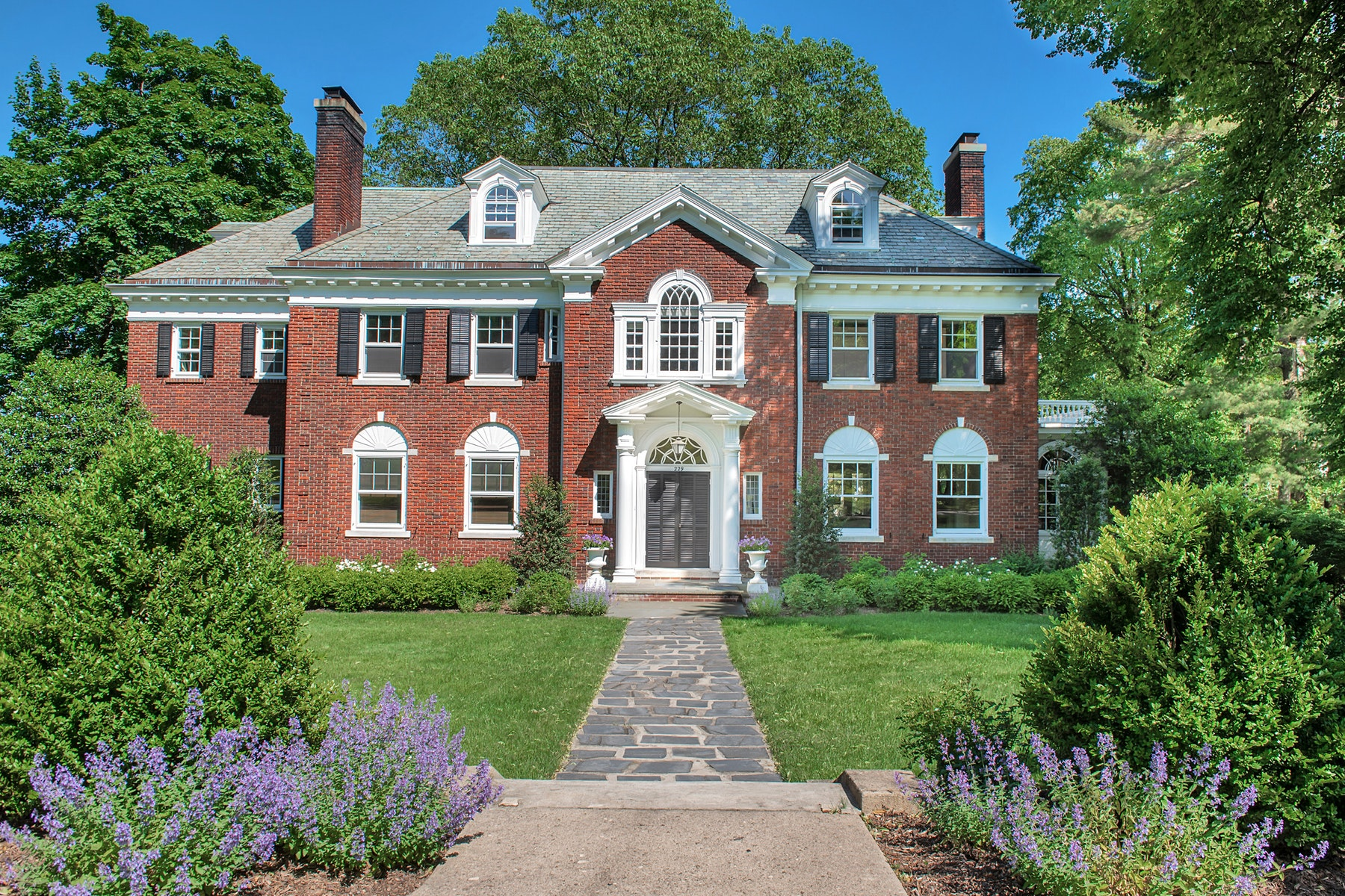 Single Family Homes for Sale at Stately Brick Georgian Colonial 229 Upper Mountain Avenue Montclair, New Jersey 07043 United States
