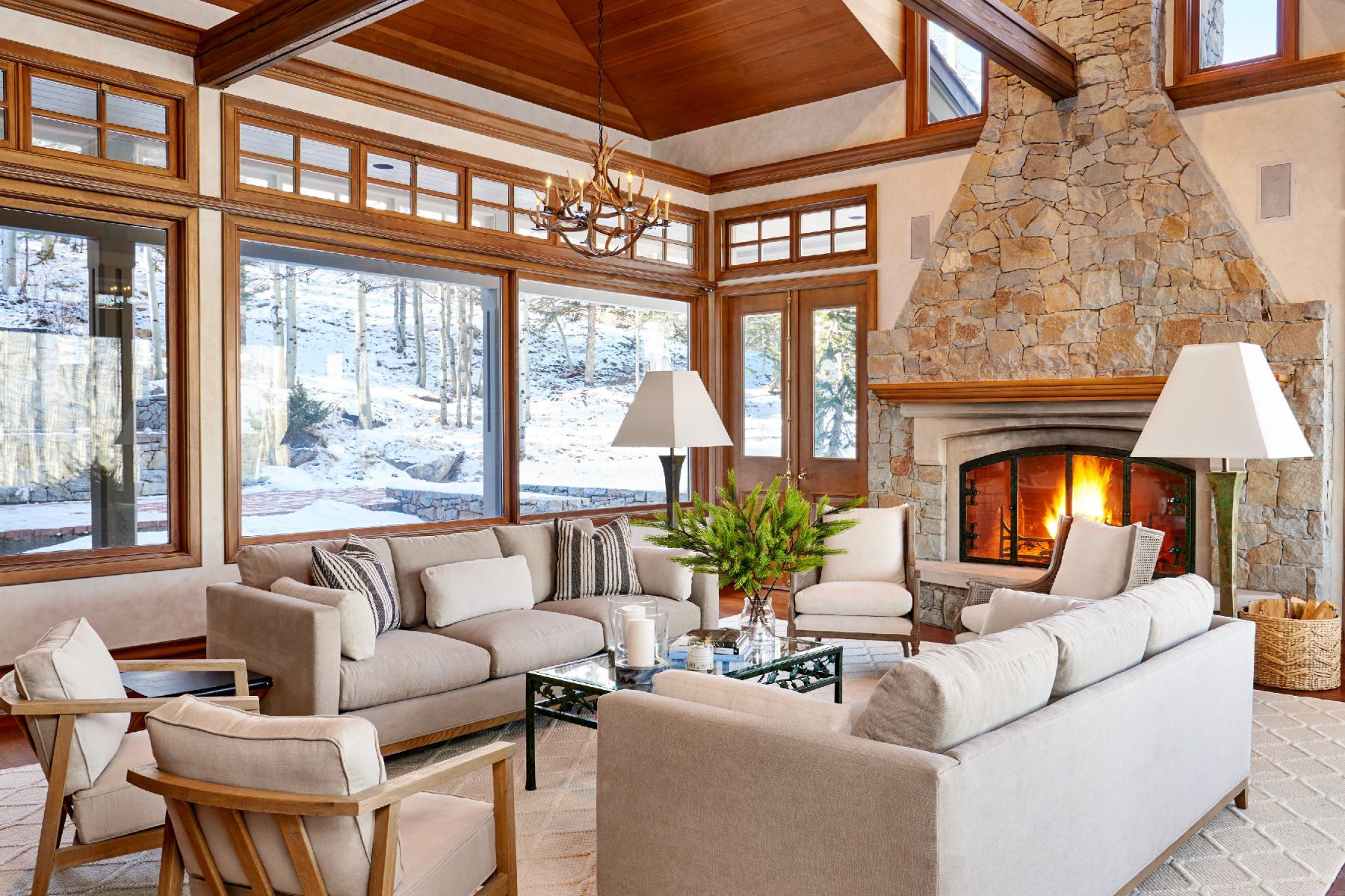 Single Family Home for Active at Beautiful Stone and Stucco Residence 1061 Wood Road Snowmass Village, Colorado 81615 United States