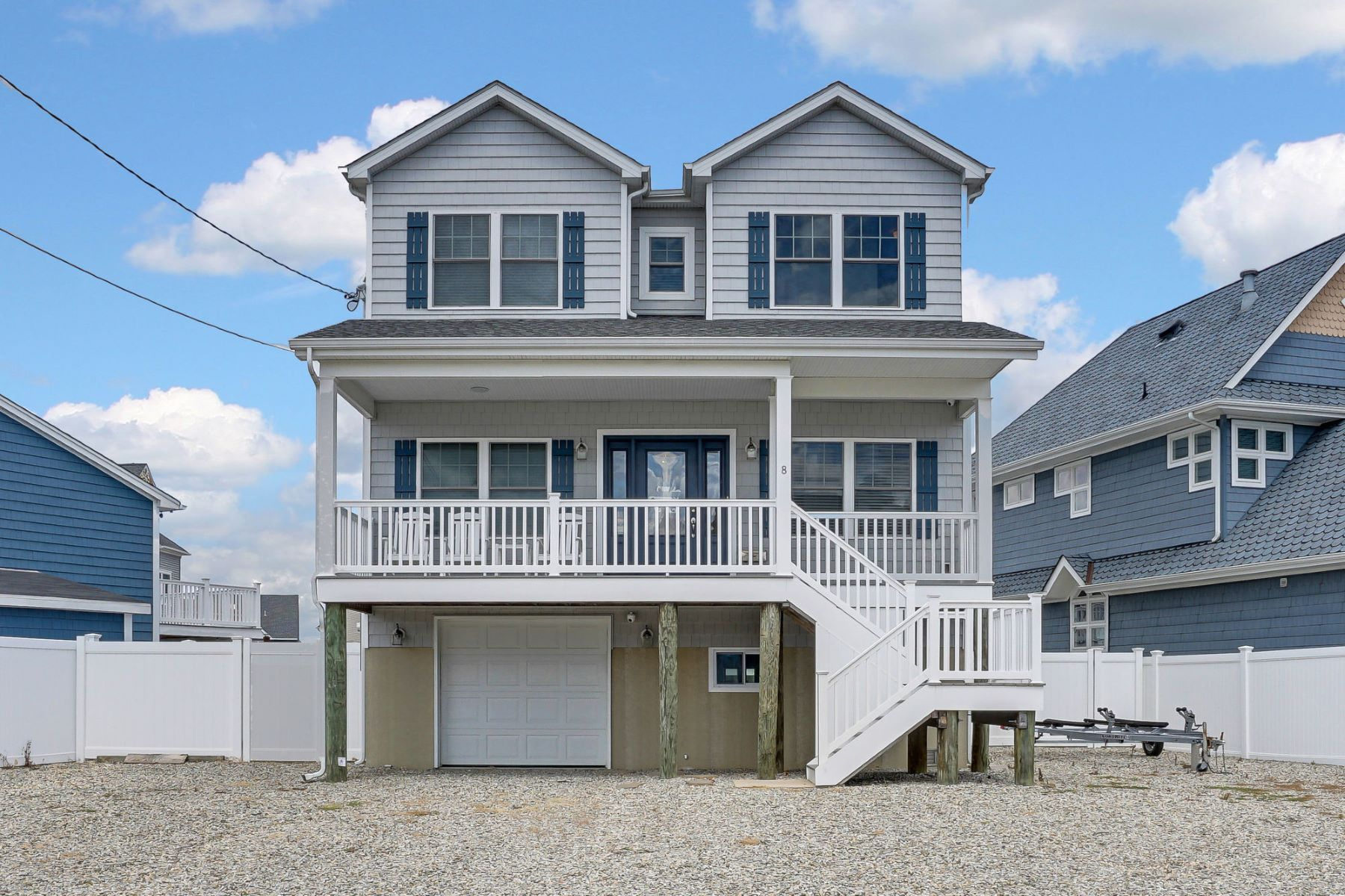 Single Family Homes for Active at Spectacular Newer Construction Lagoon Front Home 8 6th Terrace Ortley Beach, New Jersey 08751 United States