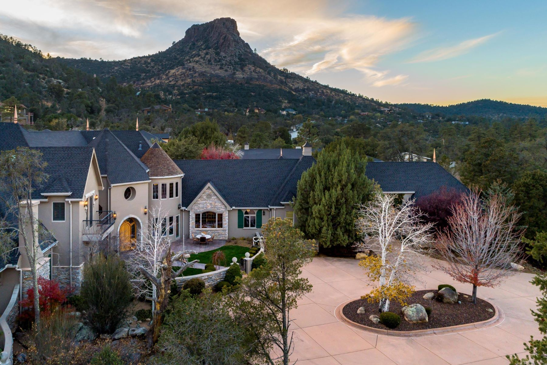 single family homes for Active at Captivating French Country Estate 2031 Thumb Butte Road Prescott, Arizona 86305 United States