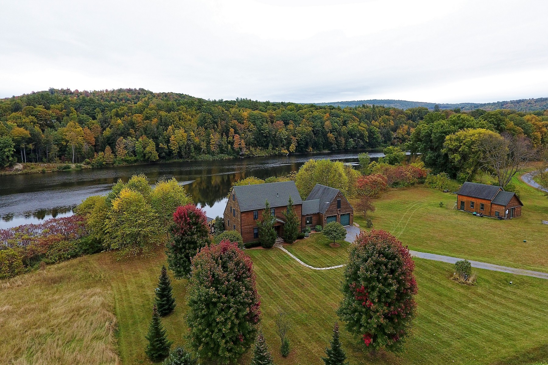 Single Family Homes for Sale at Tranquil Connecticut River Estate 1811 Connecticut River Rd Springfield, Vermont 05156 United States