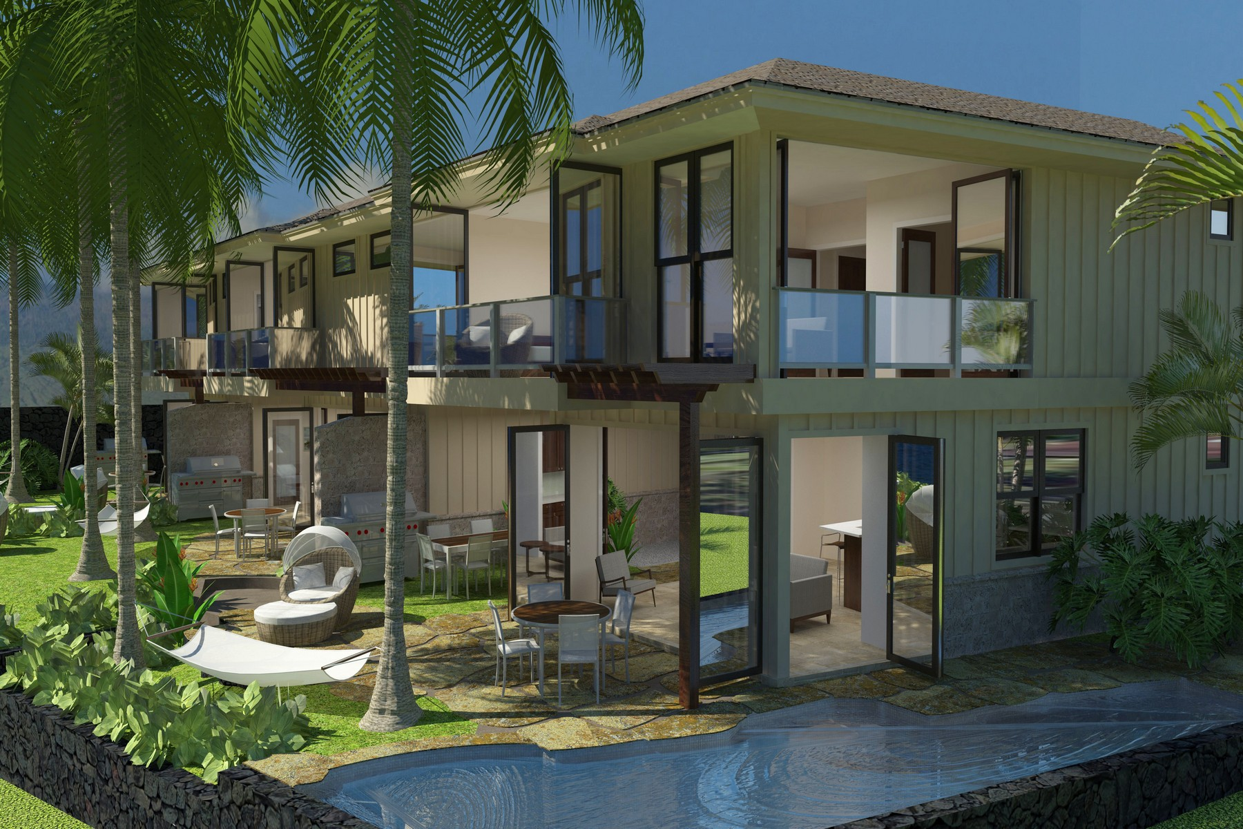 Appartement en copropriété pour l Vente à Maui New Construction Luxury Beachfront Condo 2192 Iliili Road, Maui Beach Place Orchid Kihei, Hawaii 96753 États-Unis
