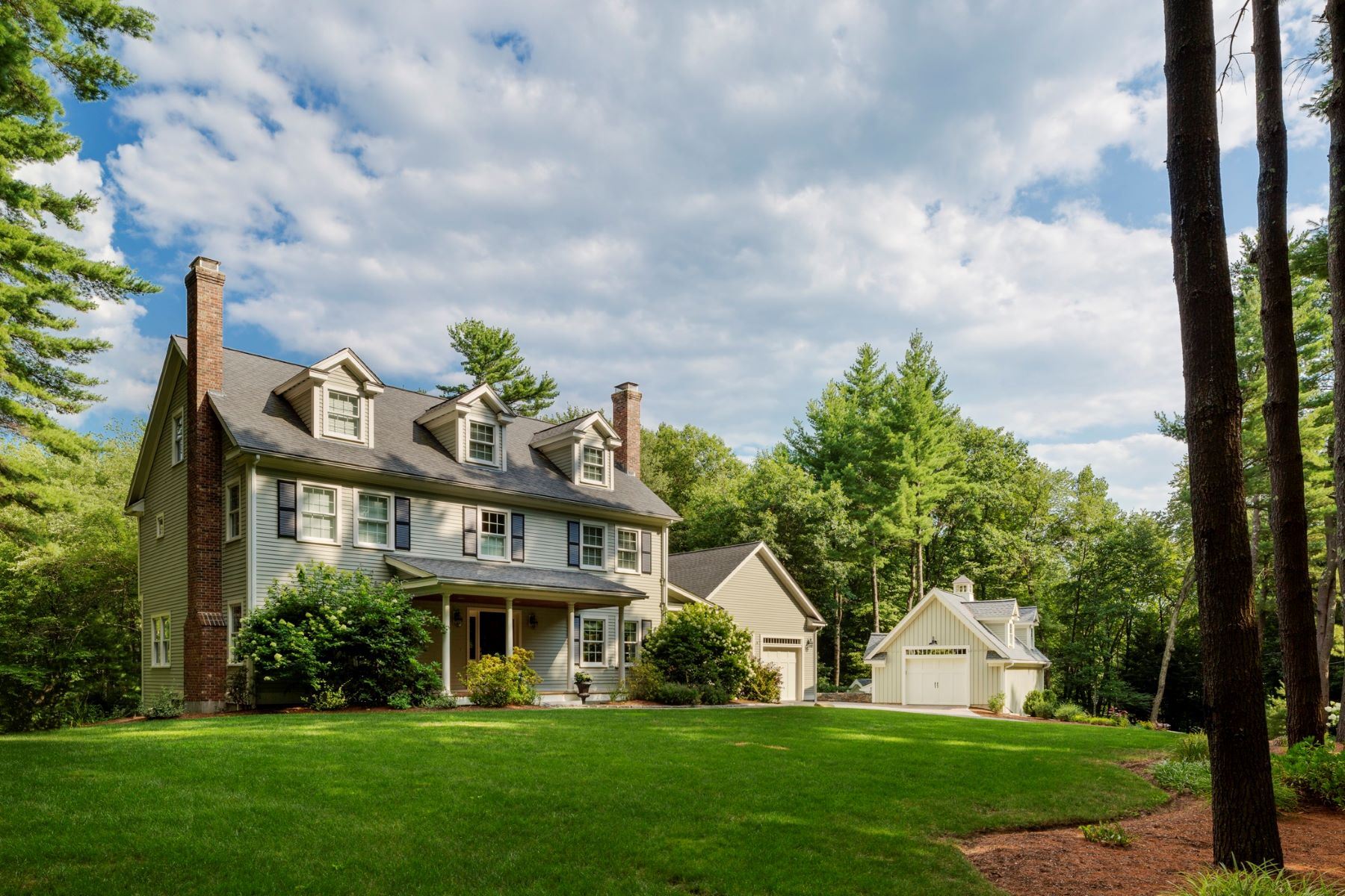 Single Family Home for Sale at Refreshing Elegant Colonial 155 Woodridge Road Carlisle, Massachusetts 01741 United States