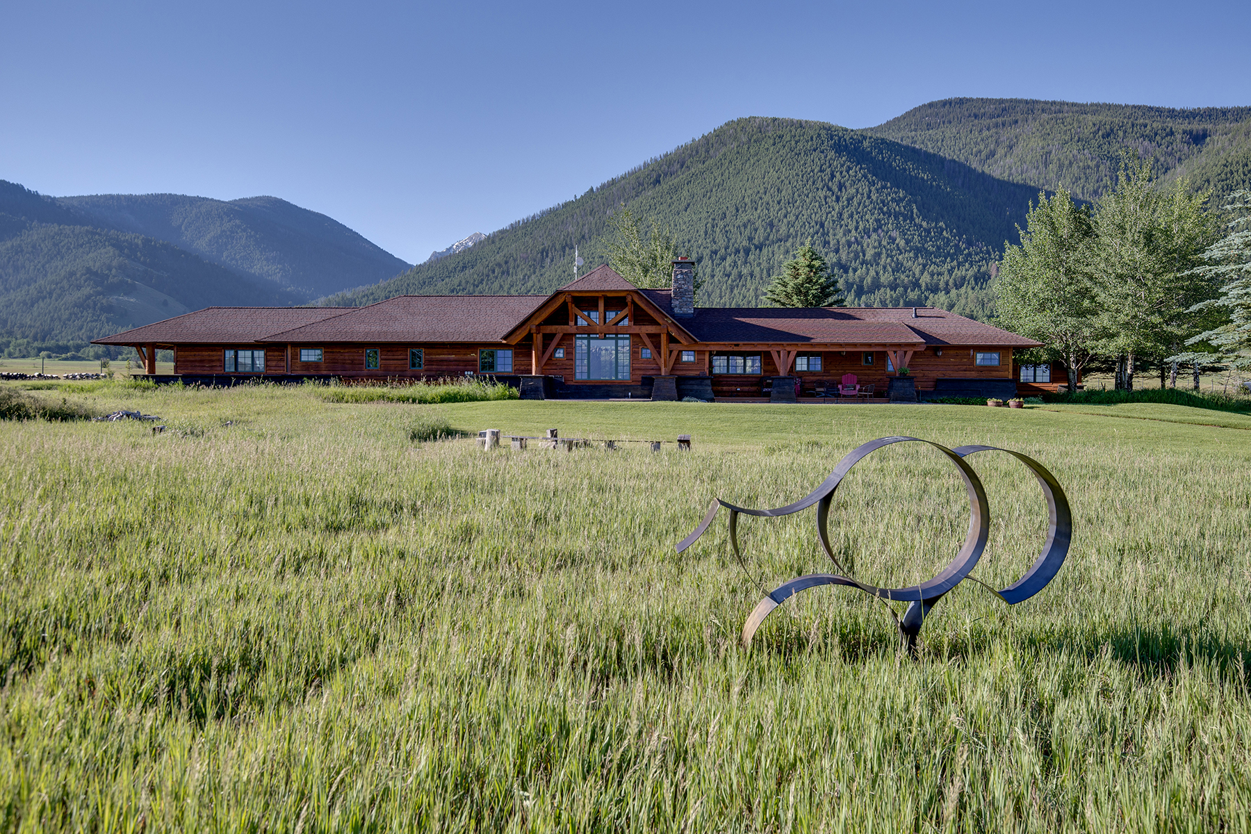 Single Family Homes pour l Vente à Wyoming Home on the Range, on the National Elk Refuge 2100 N Nowlin Tr, Jackson, Wyoming 83002 États-Unis