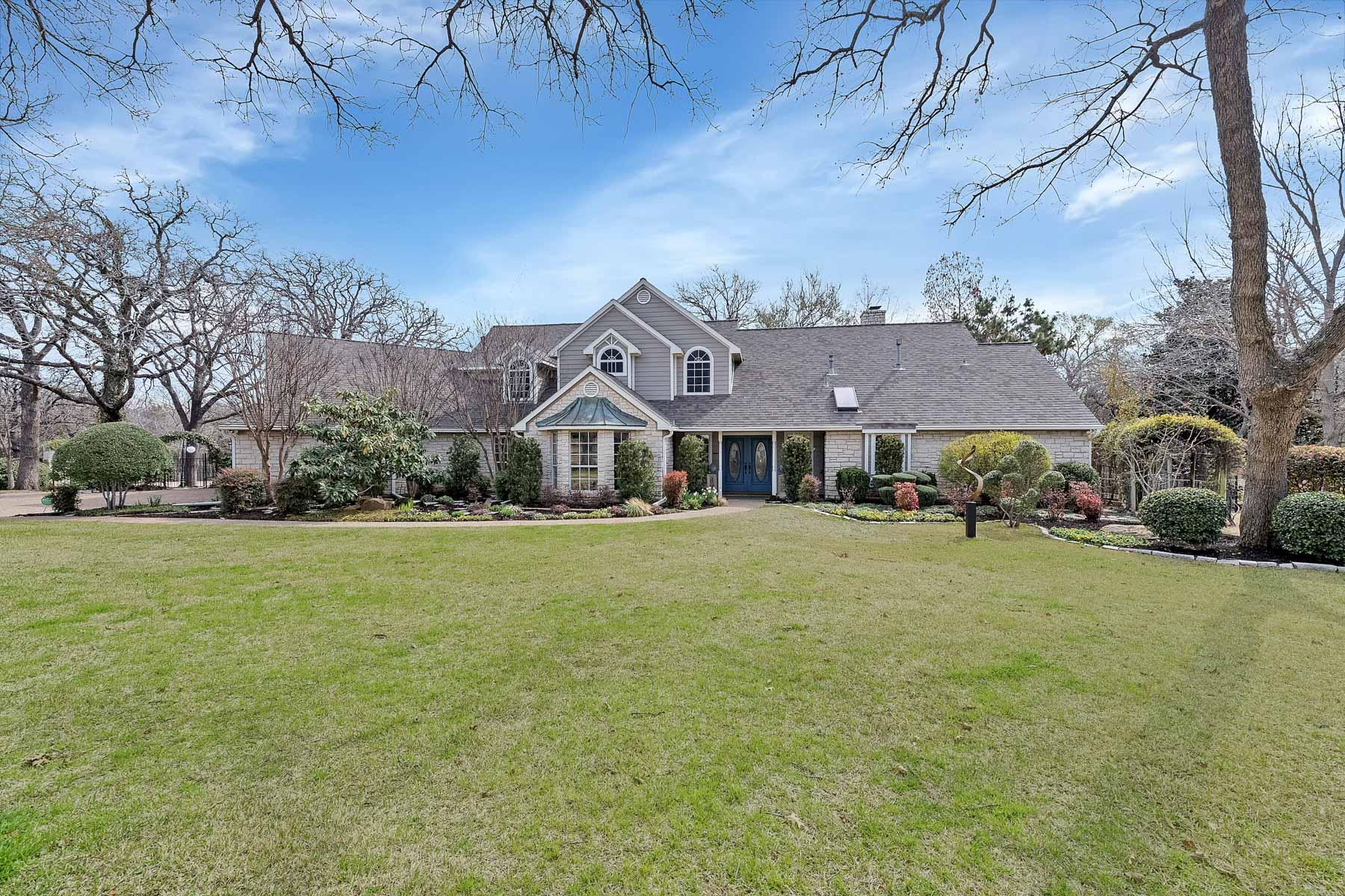 独户住宅 为 销售 在 Impeccable Austin Stone Ranch Style Home Situated on a unique 4.29 Private Lot 1352 Estella Way, Southlake, 得克萨斯州, 76092 美国