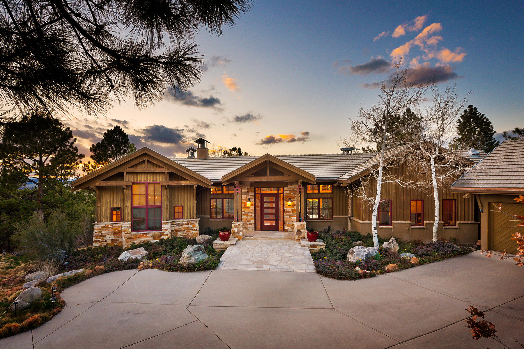 Single Family Home for Active at Exceptional architecture highlights this truly custom ranch home. 762 Valderrama Ct Castle Rock, Colorado 80108 United States