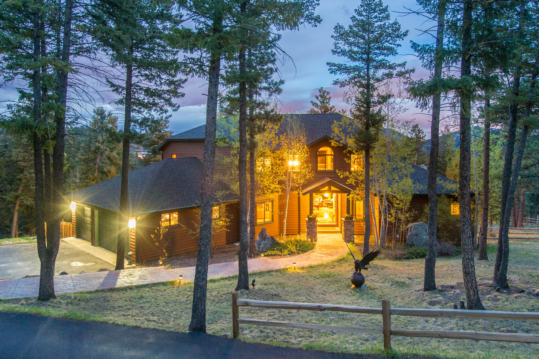 Single Family Home for Active at Executive Custom Home Set Among the Towering Pines with Privacy 7880 South Homesteader Drive Morrison, Colorado 80465 United States