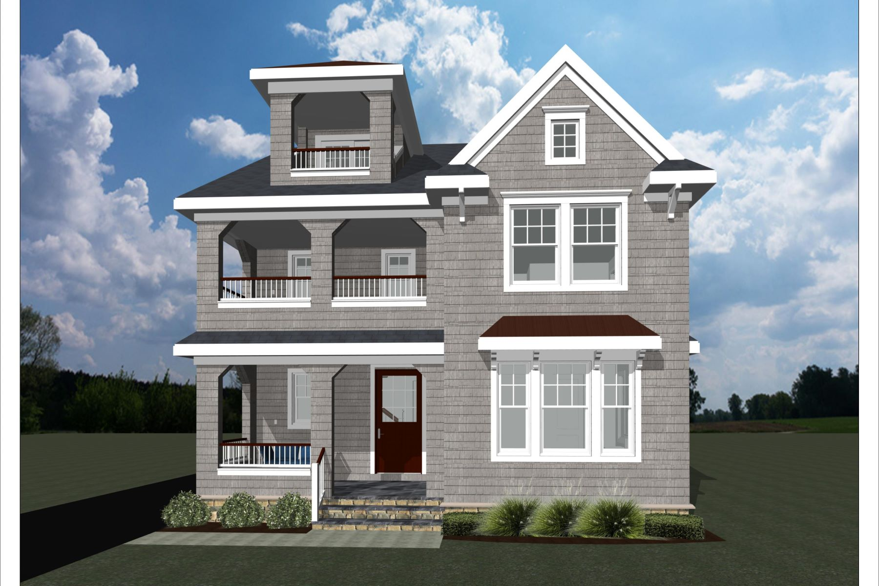 Single Family Homes pour l Vente à New Construction in Spring Lake 107 Mercer Avenue, Spring Lake, New Jersey 07762 États-Unis