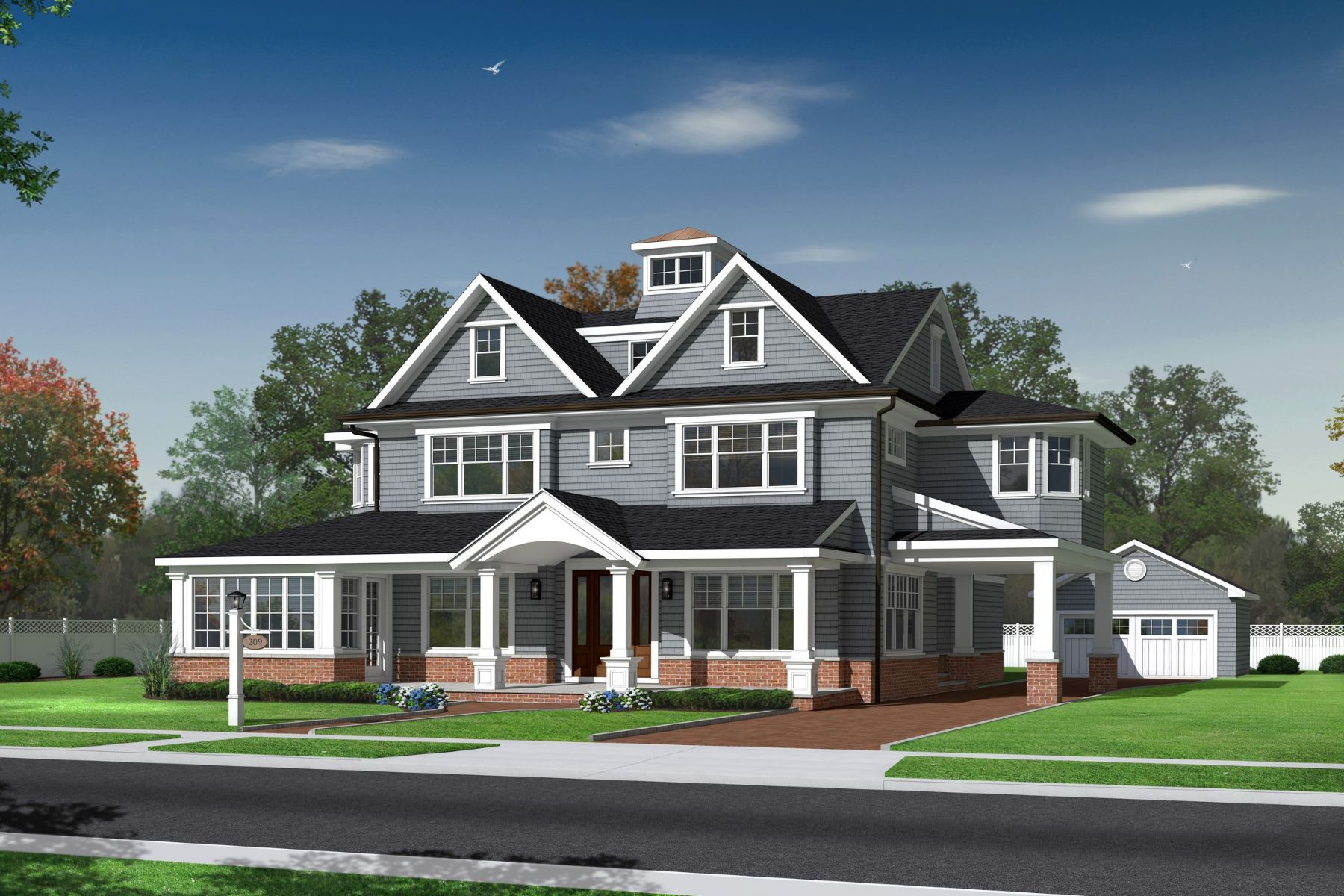 Single Family Homes pour l Vente à Spring Lake New Construction 209 Jersey Avenue, Spring Lake, New Jersey 07762 États-Unis