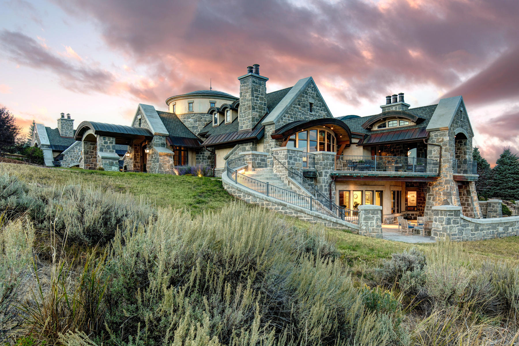 Single Family Homes for Sale at Upwall Designed Estate In Glenwild Golf Club 8066 N Red Fox Ct, Park City, Utah 84098 United States