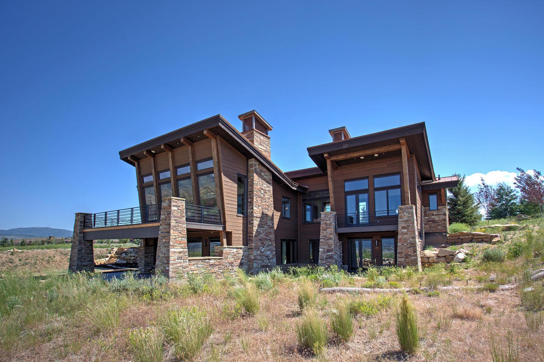 Villa per Vendita alle ore New Construction in Promontory with Panoramic Views of Park City's Three Ski Res 6803 Cody Trail Park City, Utah, 84098 Stati Uniti