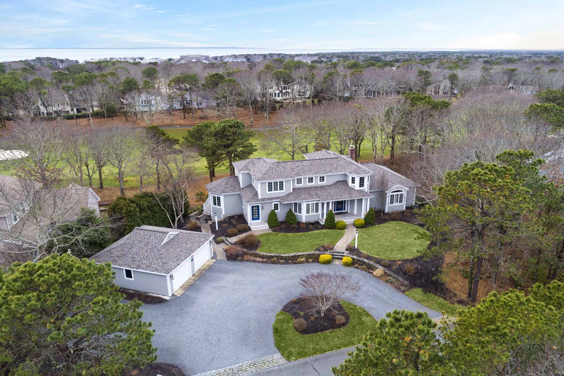 Single Family Homes for Active at SPACIOUS GOLF FRONT HOME - 17TH FAIRWAY 51 Greensward Circle New Seabury, Massachusetts 02649 United States