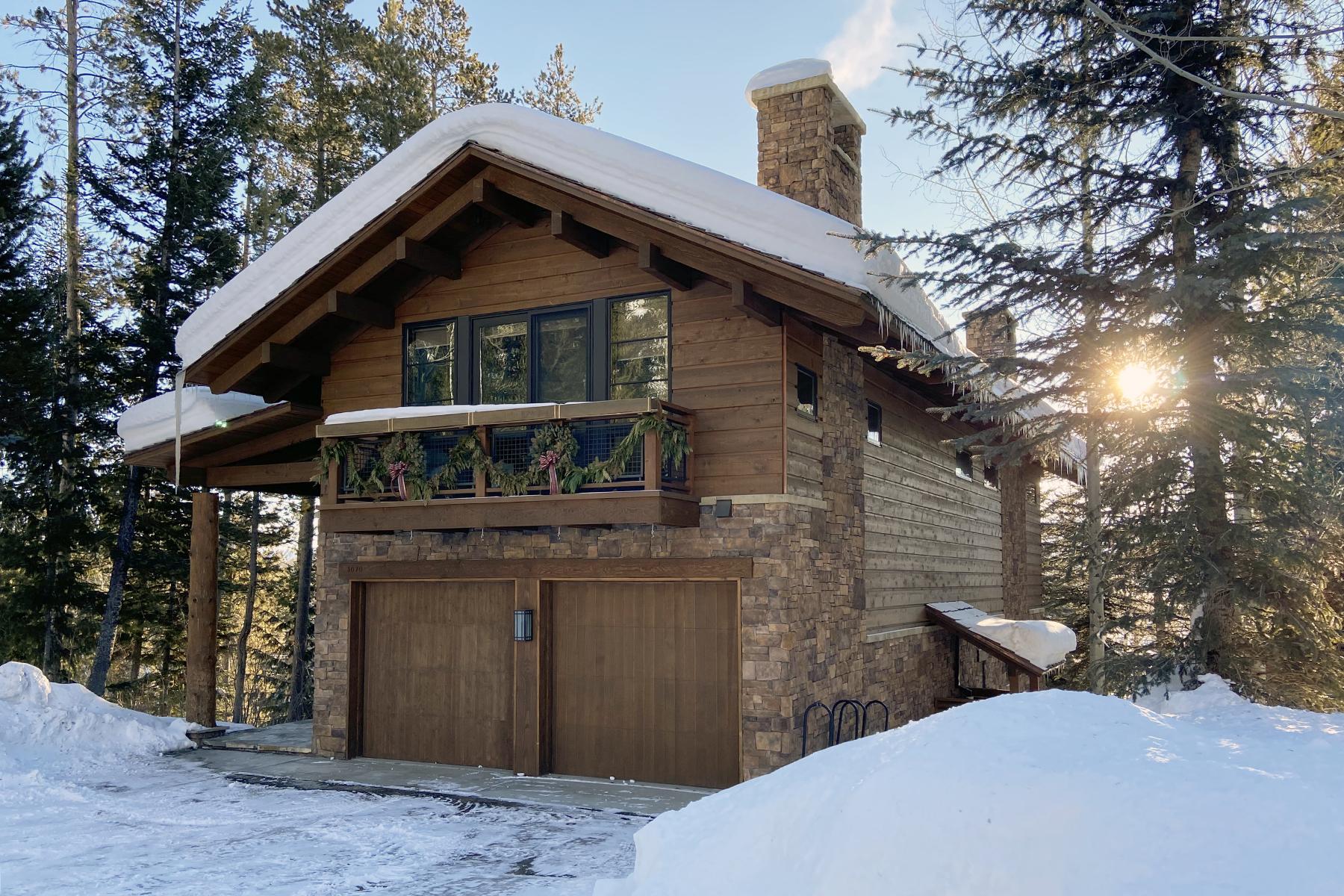 townhouses voor Verkoop op Free Standing Timbers Townhome 3070 Garnet, Teton Village, Wyoming 83025 Verenigde Staten