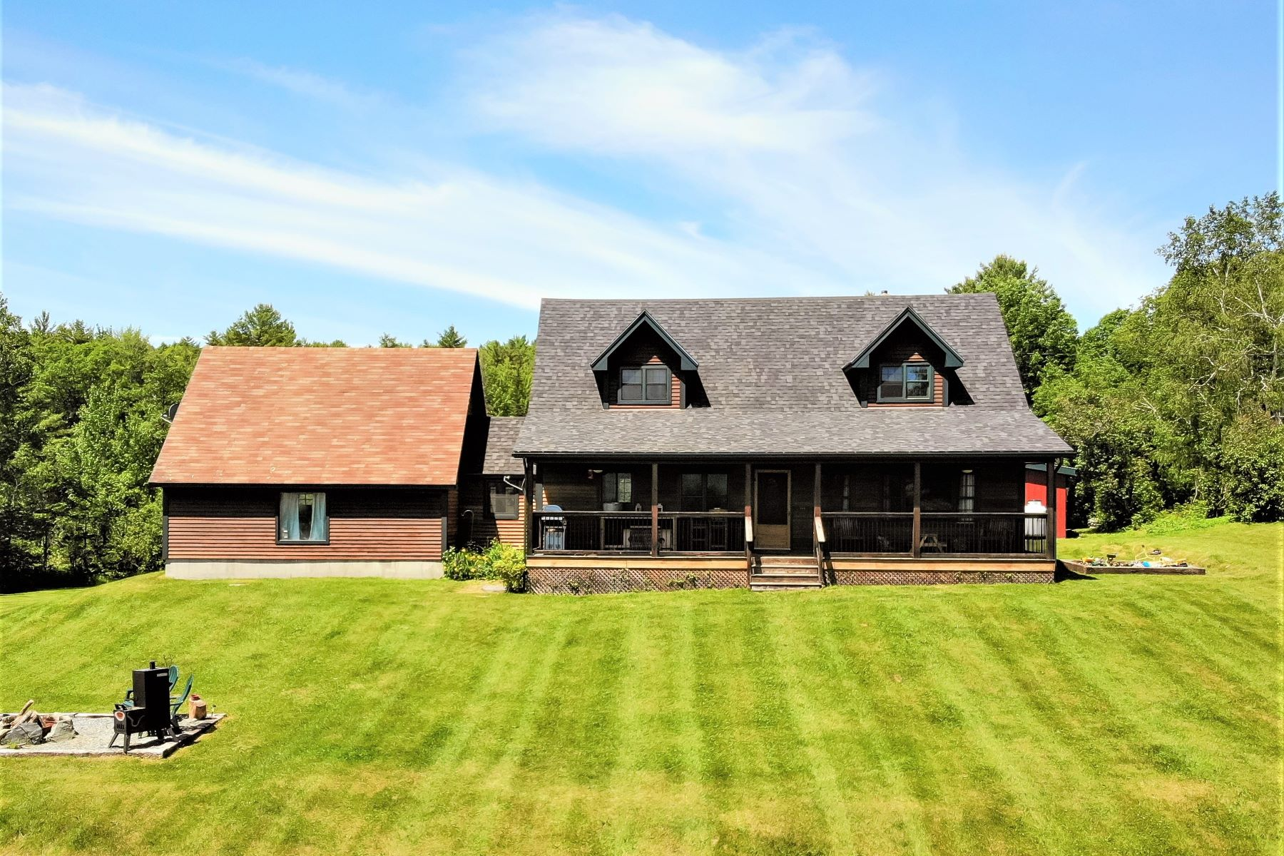 Single Family Homes for Sale at Three Bedroom Cape in Newbury on 34 Acres 740 Cole Rd Newbury, Vermont 05051 United States
