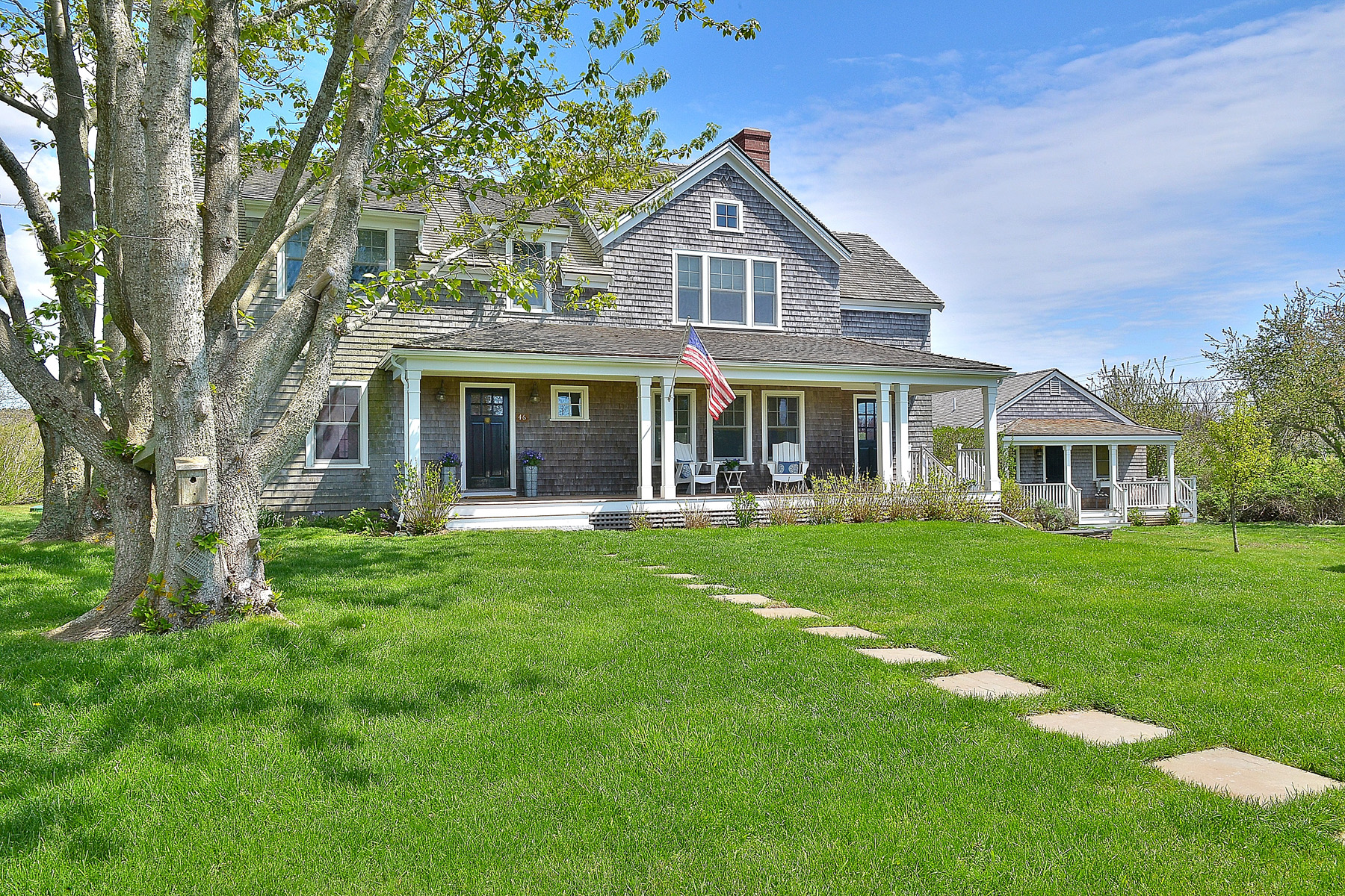 Single Family Home for Sale at Beautiful Farm House Style Home Plus A Charming Cottage. 46 Crooked Lane Nantucket, Massachusetts, 02554 United States