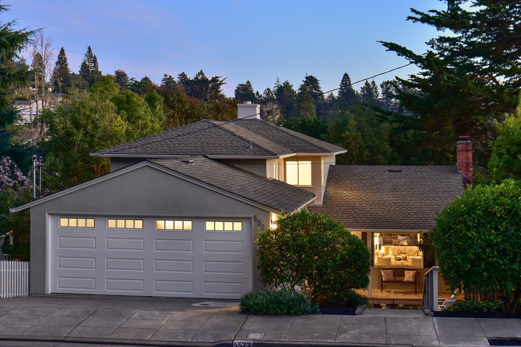 Single Family Homes for Sale at Updated Upper Rockridge Traditional 5523 Masonic Avenue Oakland, California 94618 United States