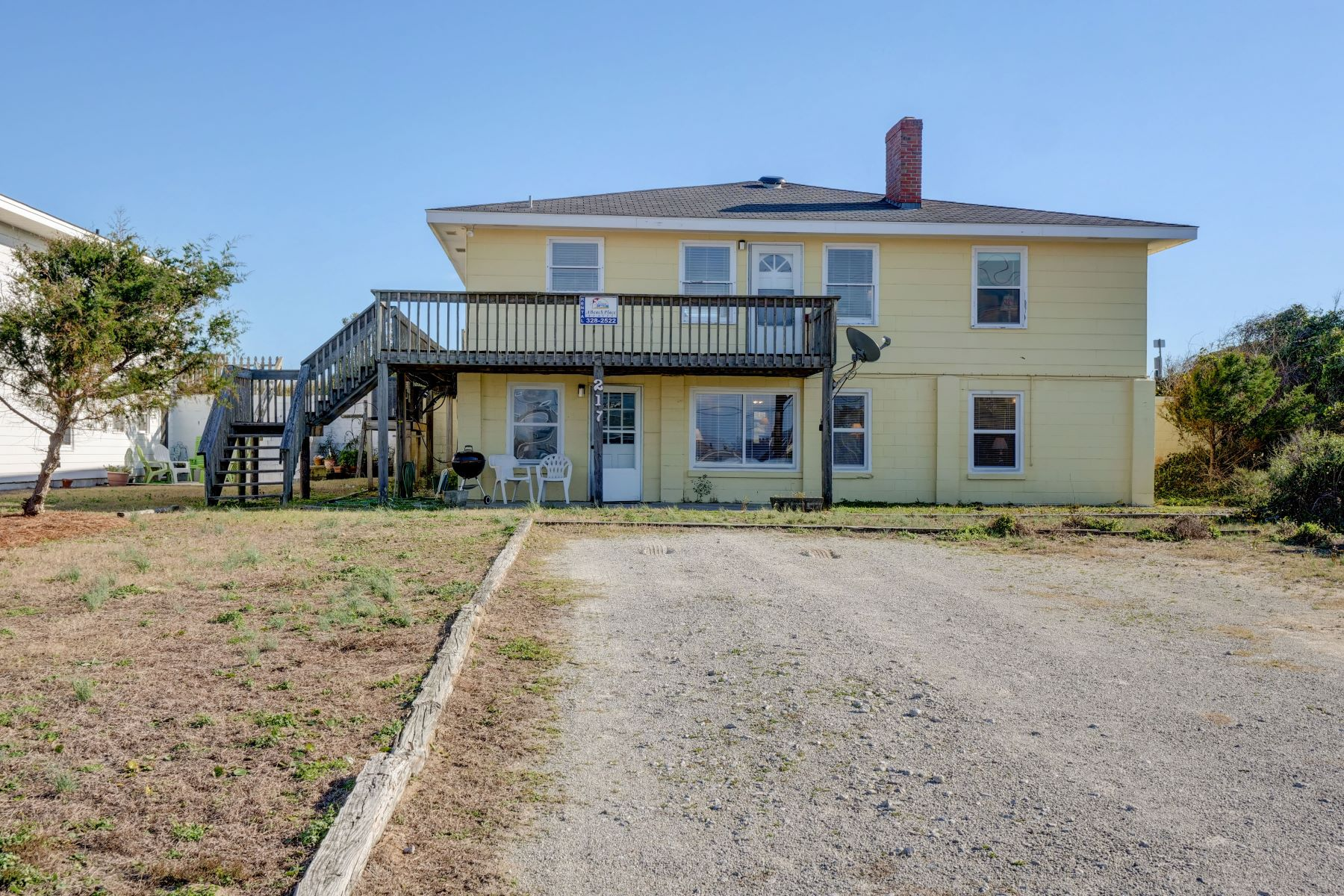 Single Family Homes for Sale at Oceanfront Dream With A Vintage Feeling 217 S Anderson Blvd Topsail Beach, North Carolina 28445 United States