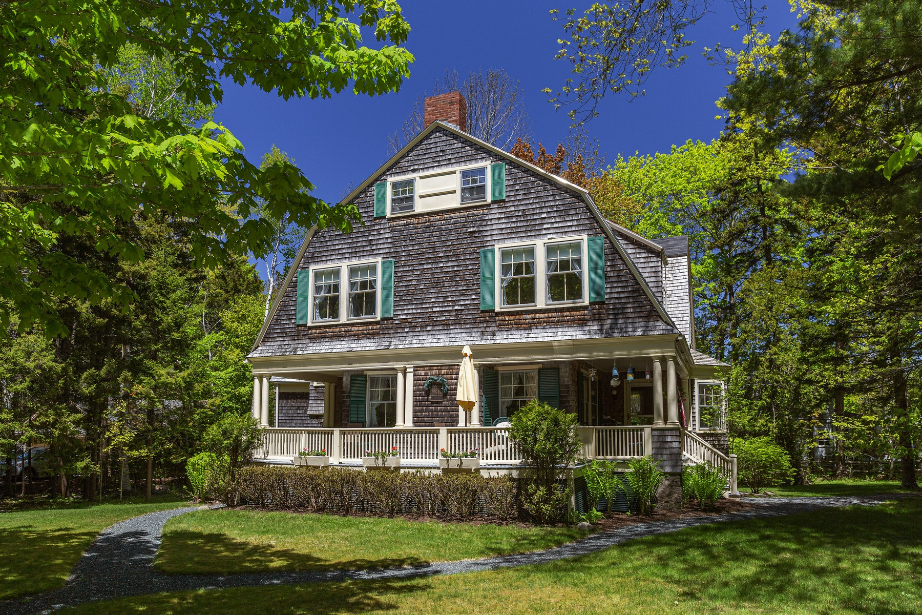 Single Family Homes for Sale at Healing Porch 13 Rock End Road, Northeast Harbor, Maine 04662 United States