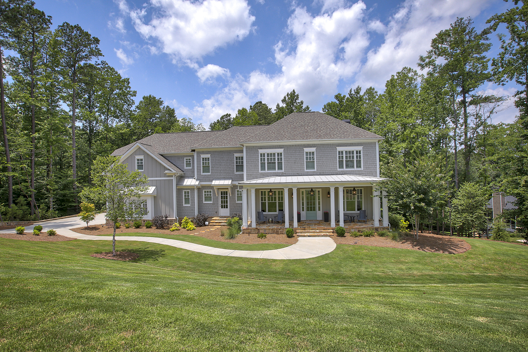 Single Family Home for Sale at Coastal Farmhouse 13476 Hipworth Road Alpharetta, Georgia 30004 United States