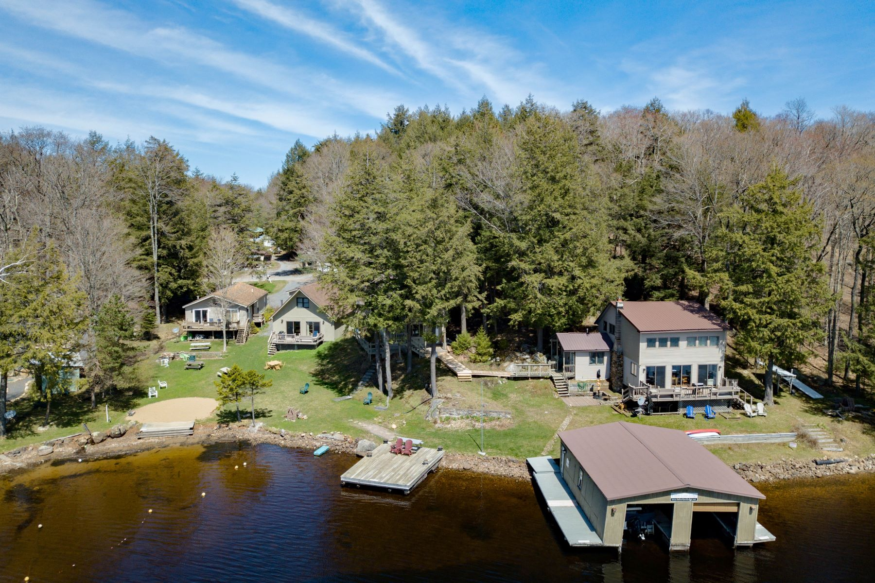 Multi-Family Home for Rent at Multi Family Lakefront Living 251 Petrie Road, Old Forge, New York 13420 United States