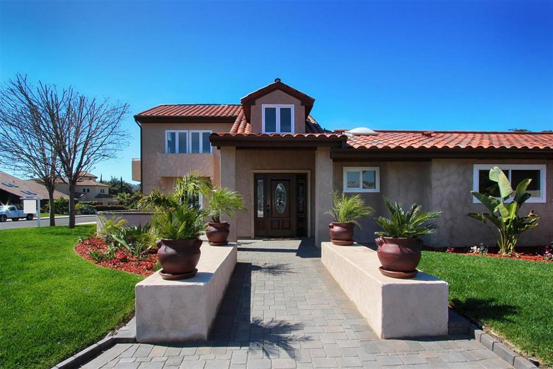 Single Family Home for Sale at Whispering Palms 3934 Via Valle Verde Rancho Santa Fe, California 92091 United States