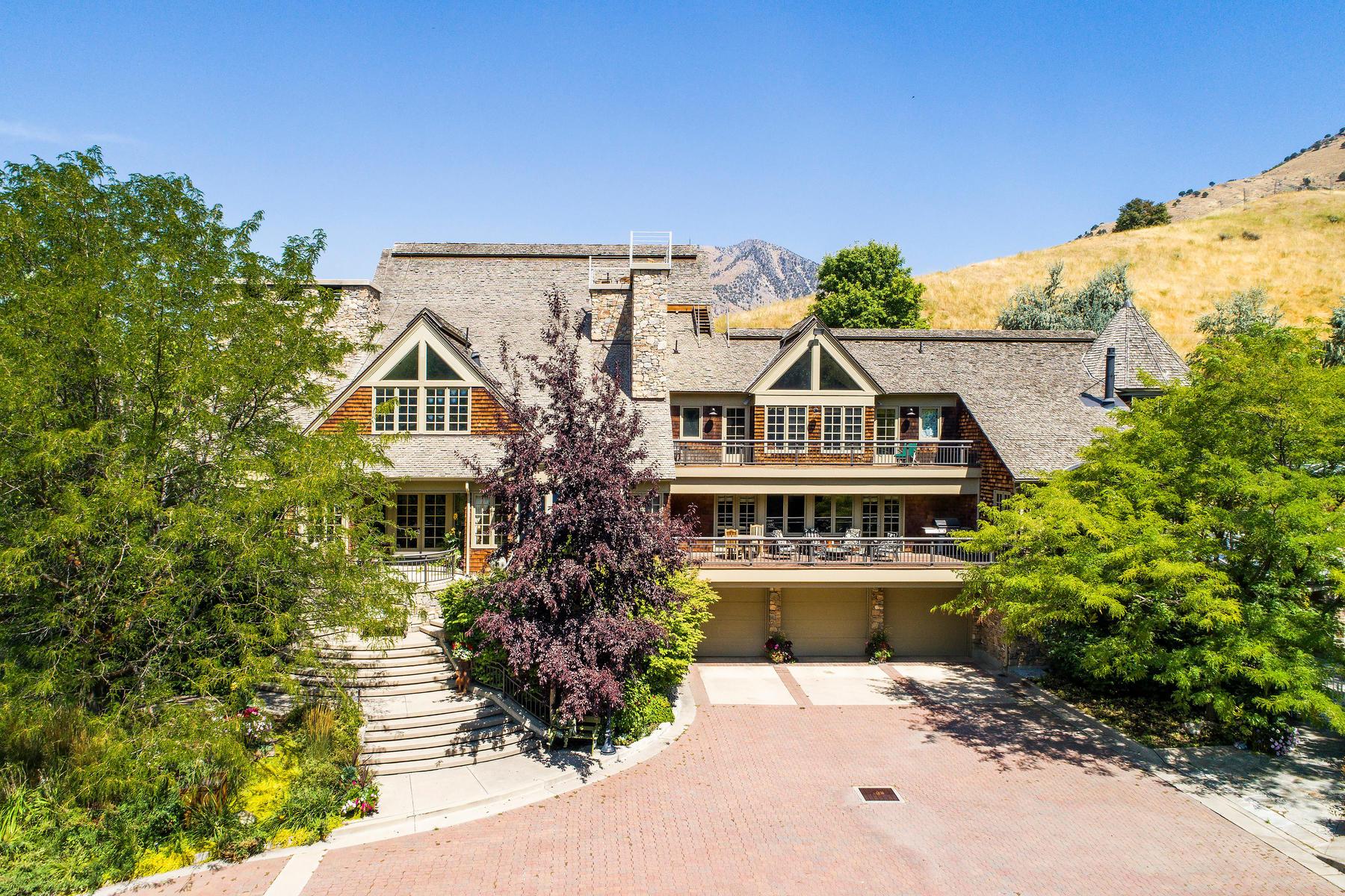 Single Family Homes için Satış at Custom Estate On Nine Acres 245 North 1480 East, Logan, Utah 84323 Amerika Birleşik Devletleri
