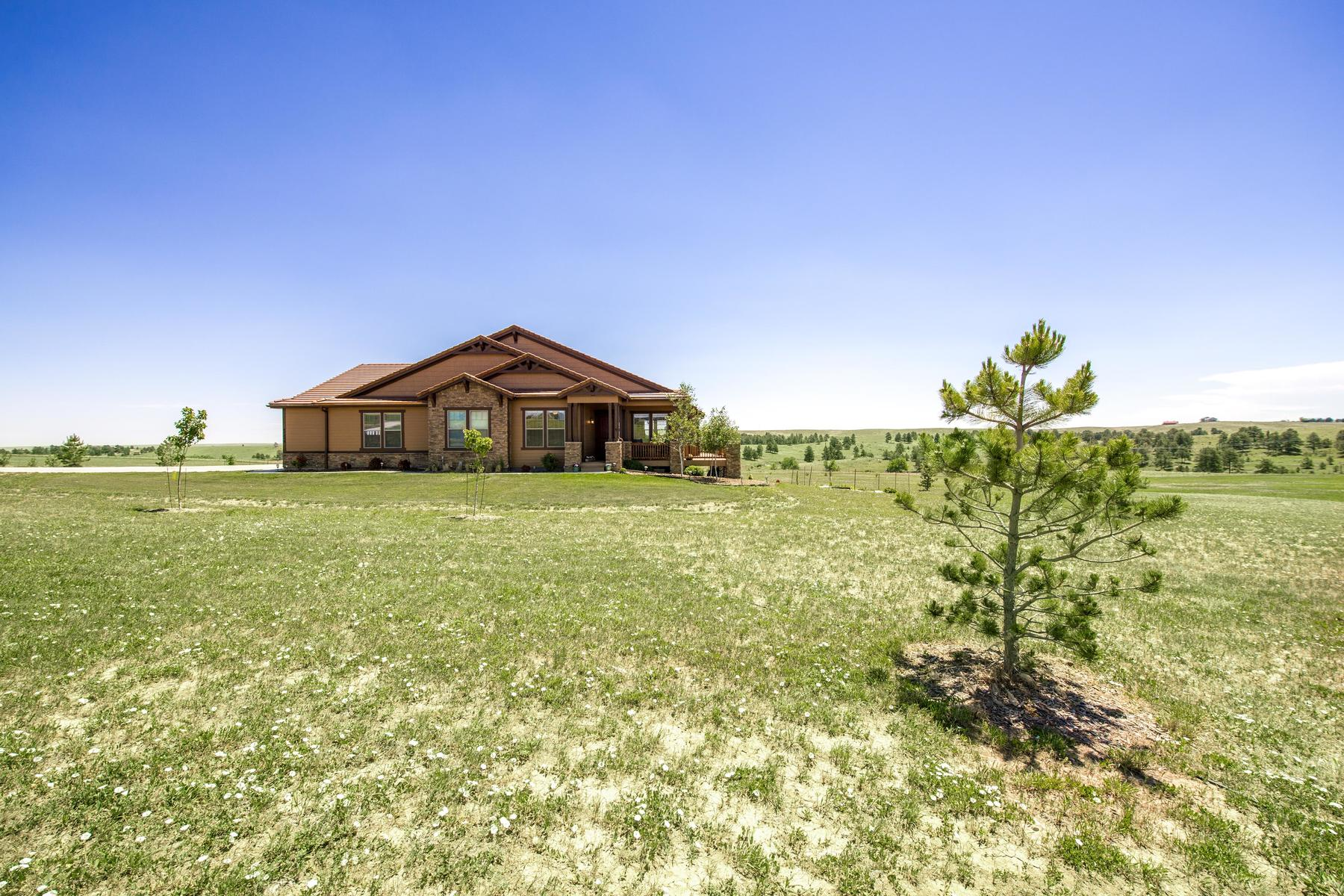 Single Family Home for Active at Beautiful Custom Ranch Style Home On Five Acres! 47098 Silver Fir Street Parker, Colorado 80138 United States