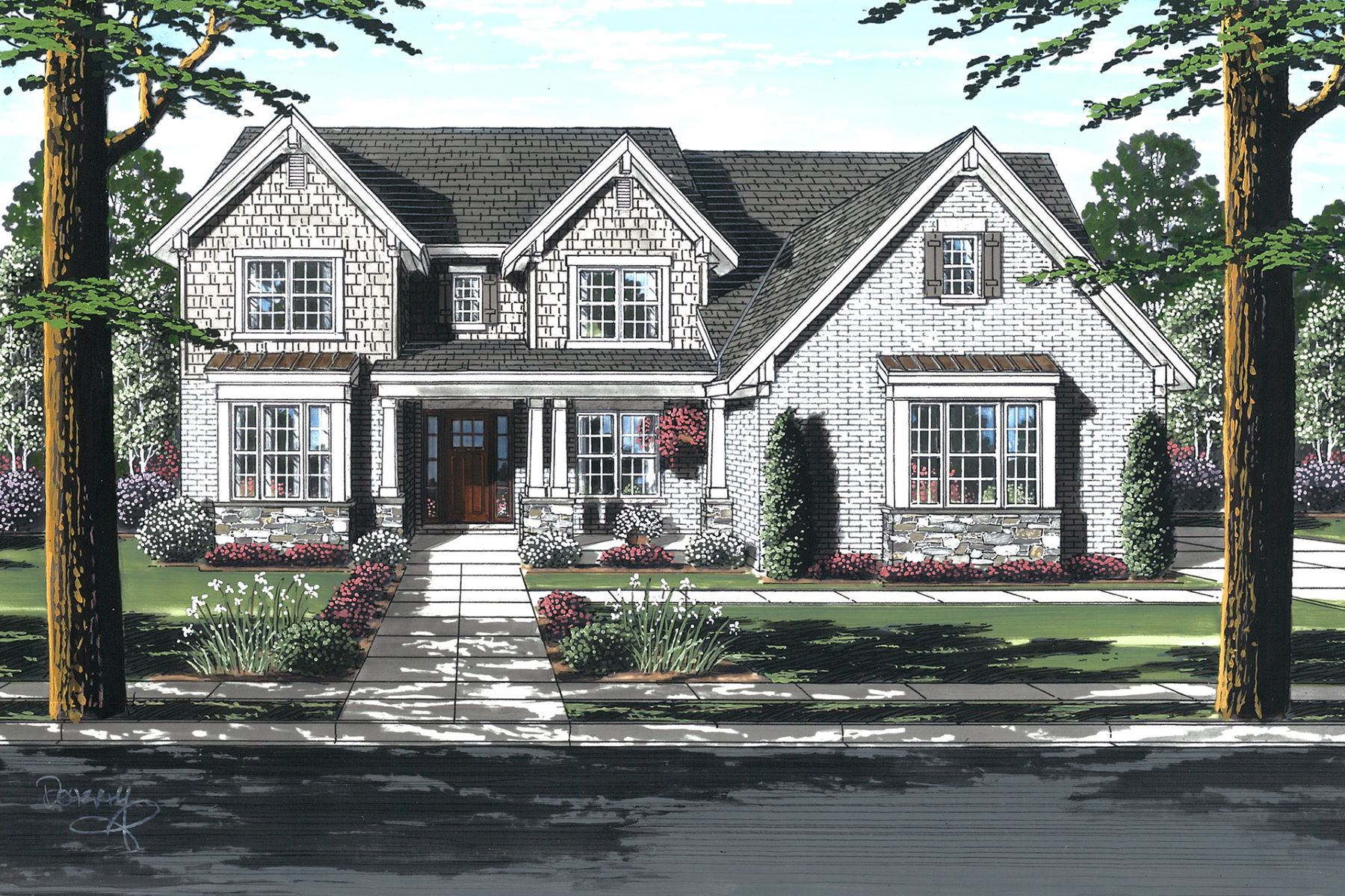Single Family Homes 为 销售 在 New Construction in Blue Ash 5500 Myerdale Drive Blue Ash, 俄亥俄州 45242 美国