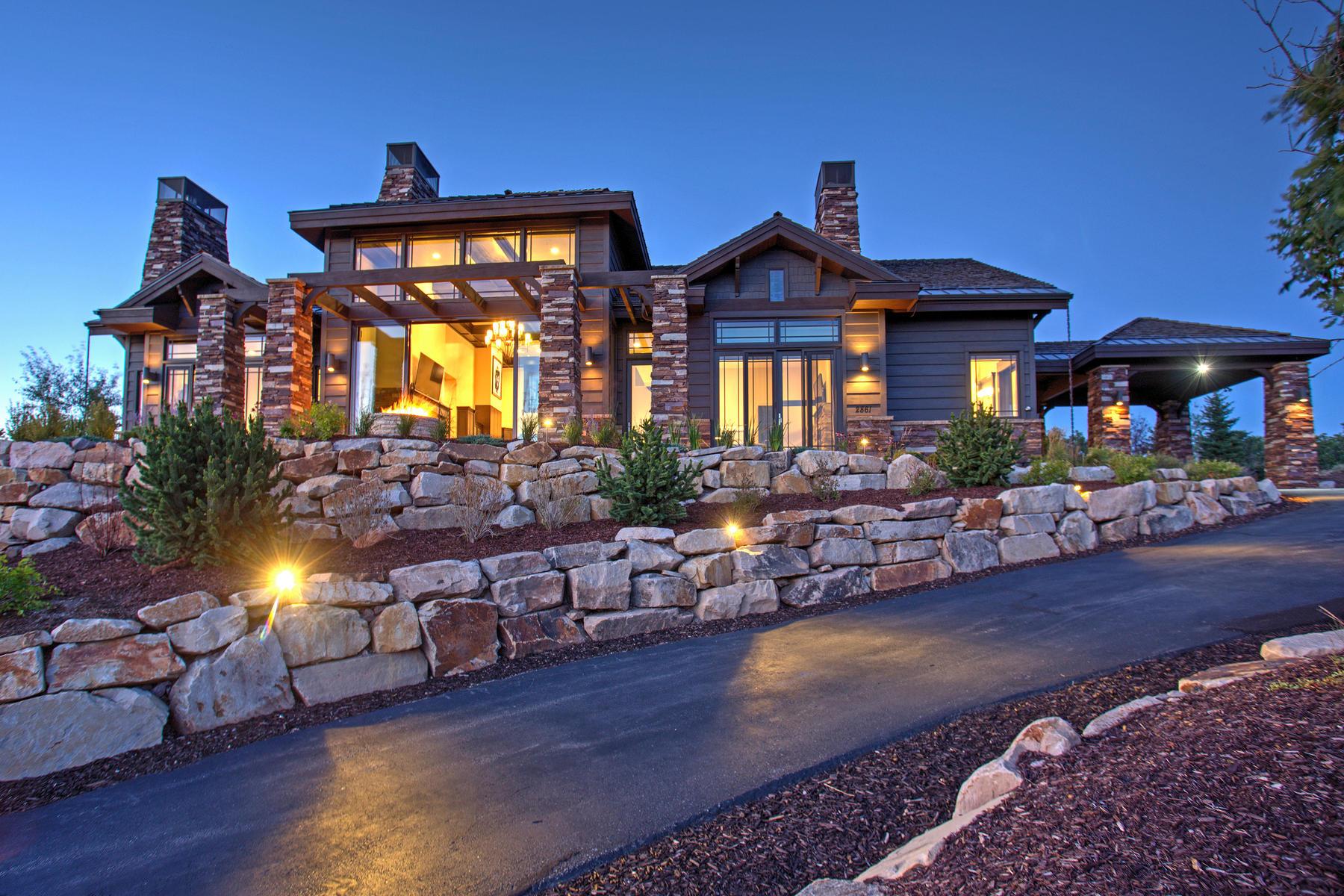 Moradia para Venda às Stunning View From This Updated Tuhaye Home 2861 N Ridgeway Dr Heber City, Utah, 84032 Estados Unidos