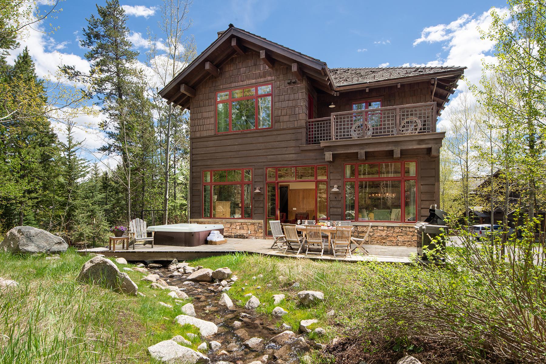 Single Family Homes pour l Vente à Ski-in, Ski-Out Home 3193 W Washakie Rd, Teton Village, Wyoming 83025 États-Unis