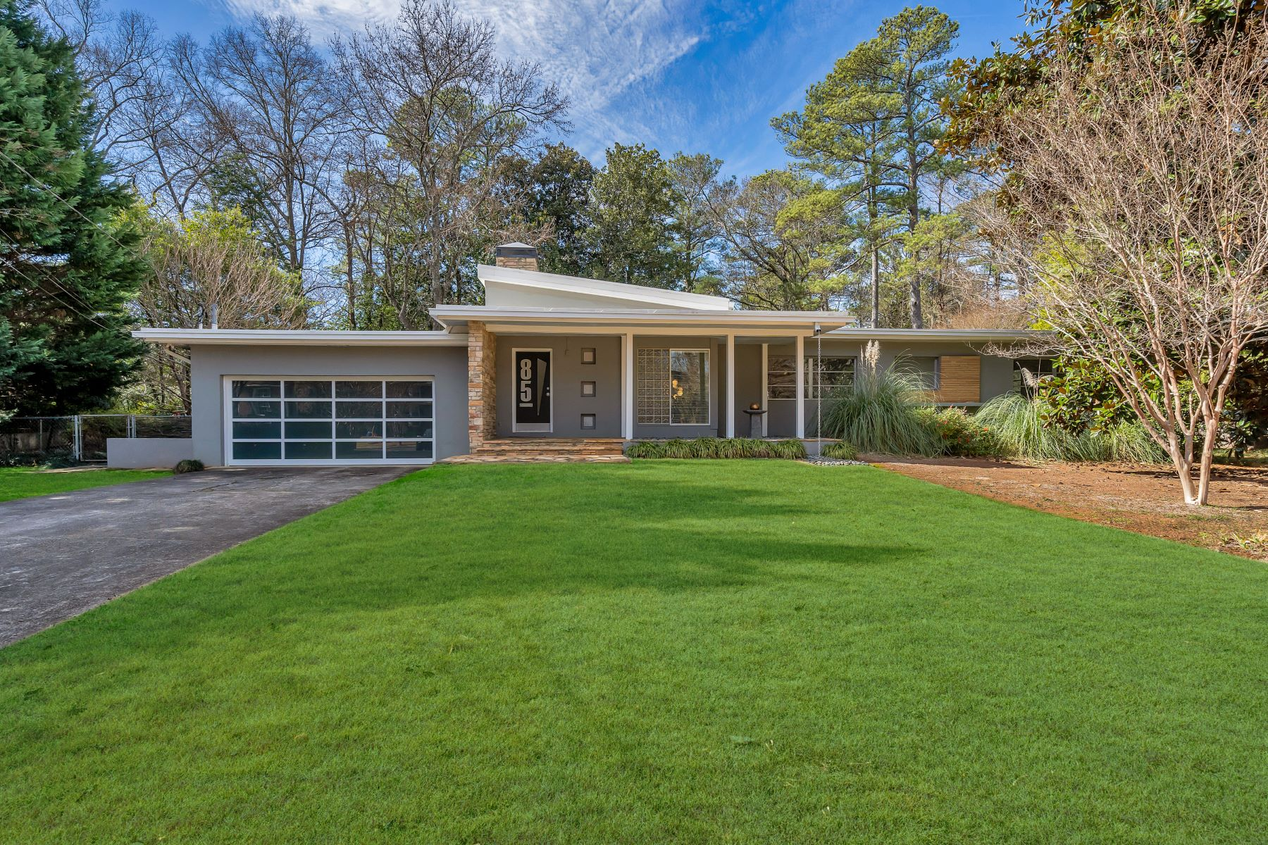 Single Family Homes for Sale at Mid-Century Modern Masterpiece With Guest Cottage 85 Clarendon Avenue Avondale Estates, Georgia 30002 United States