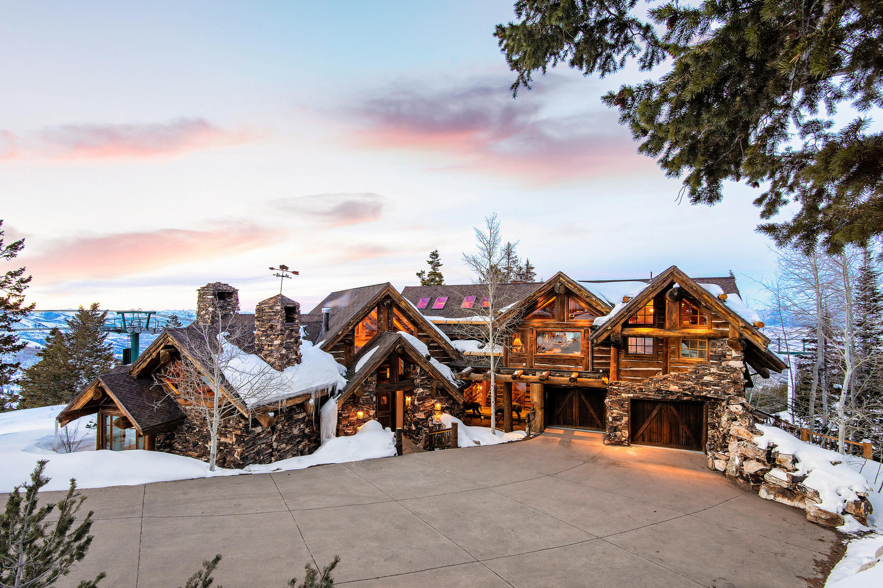Single Family Home for Sale at Iconic Ski Home With THE Best Views And Ski Access 7841 Falcon Ct Park City, Utah 84060 United States