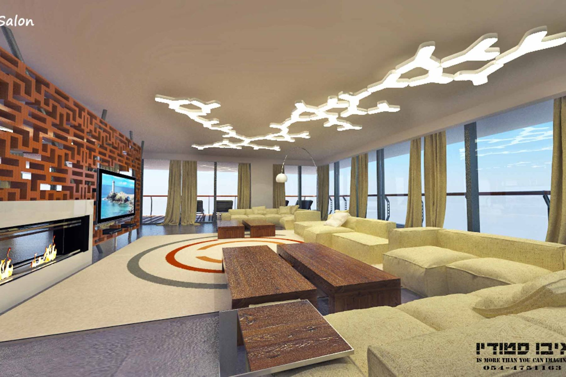 Appartement pour l Vente à Fabulous Sea Front Penthouse in Netanya Netanya, Israel Israël