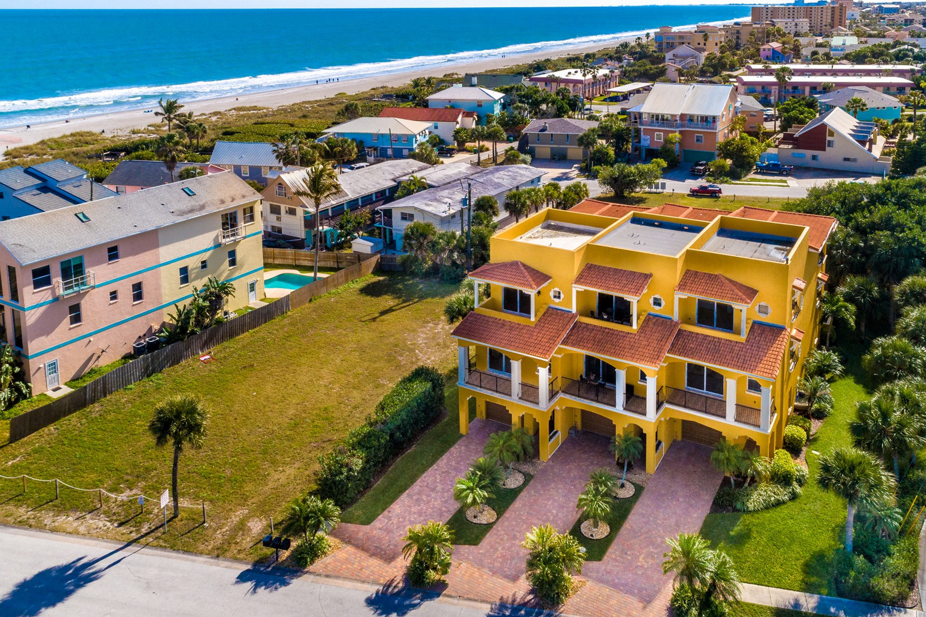 townhouses for Sale at Beautiful, luxury townhome with sensational ocean views. 603 Washington Avenue Unit 1 Cape Canaveral, Florida 32920 United States