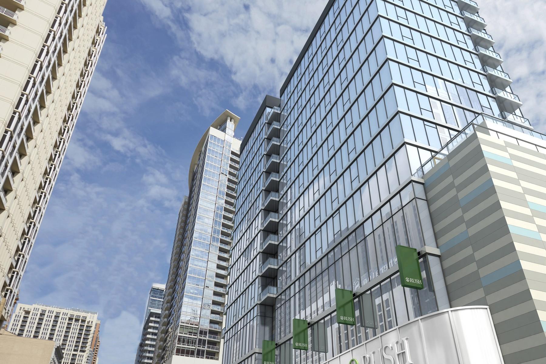 Condominio por un Alquiler en Luxury South Loop Rental 1407 S Michigan Avenue Unit 709, Near South Side, Chicago, Illinois, 60605 Estados Unidos