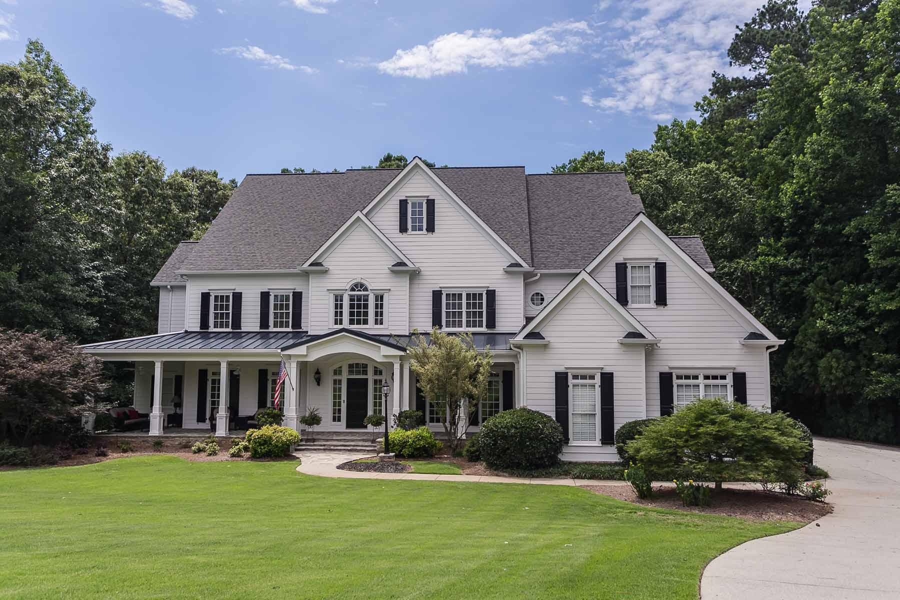 独户住宅 为 销售 在 Custom Built Estate Farmhouse in Gated Community 310 Lake Bend Court 阿法乐特, 乔治亚州, 30004 美国