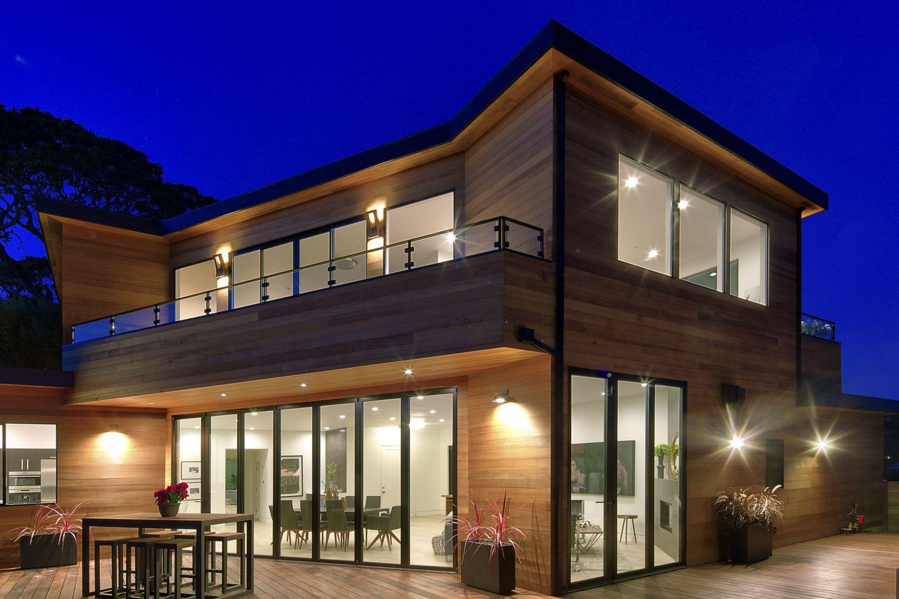 واحد منزل الأسرة للـ Sale في Flawless Contemporary Masterpiece! 305 Vista Grande Greenbrae, California 94904 United States