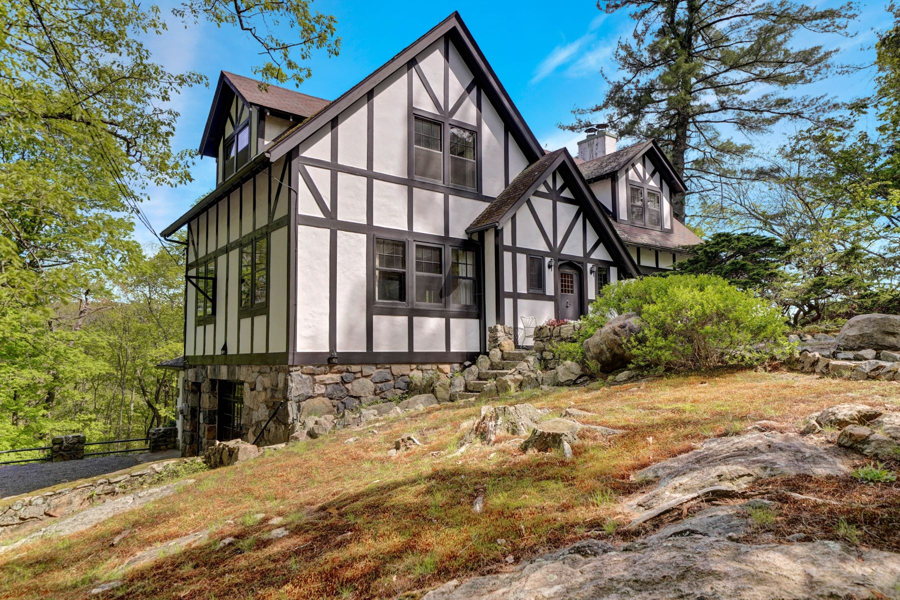 Single Family Homes for Active at Classic Half-Timbered and Stone Cottage 59 Crows Nest Road Tuxedo Park, New York 10987 United States