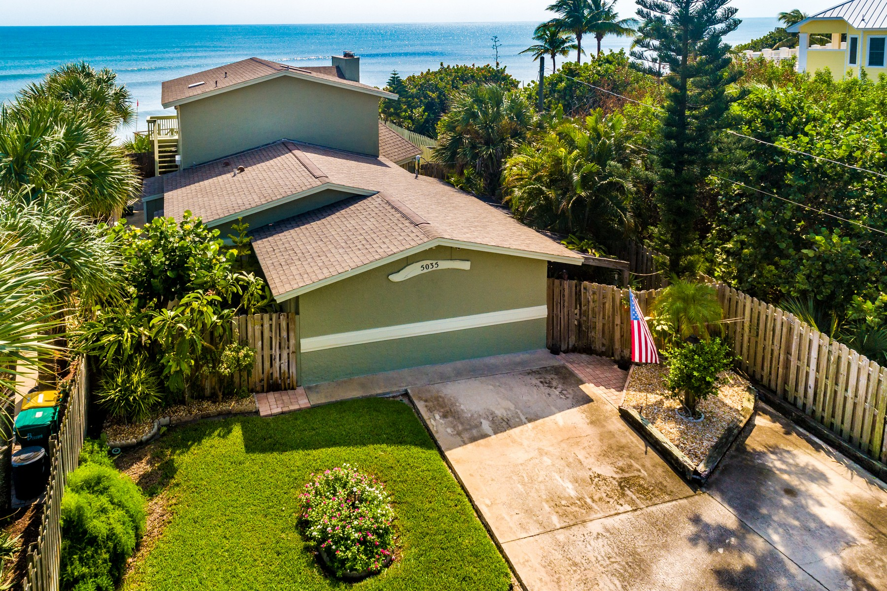 Single Family Homes for Sale at Oceanfront Home with Incredible Ocean Views Along Beautiful Melbourne Beach 5035 Highway A1A Melbourne Beach, Florida 32951 United States