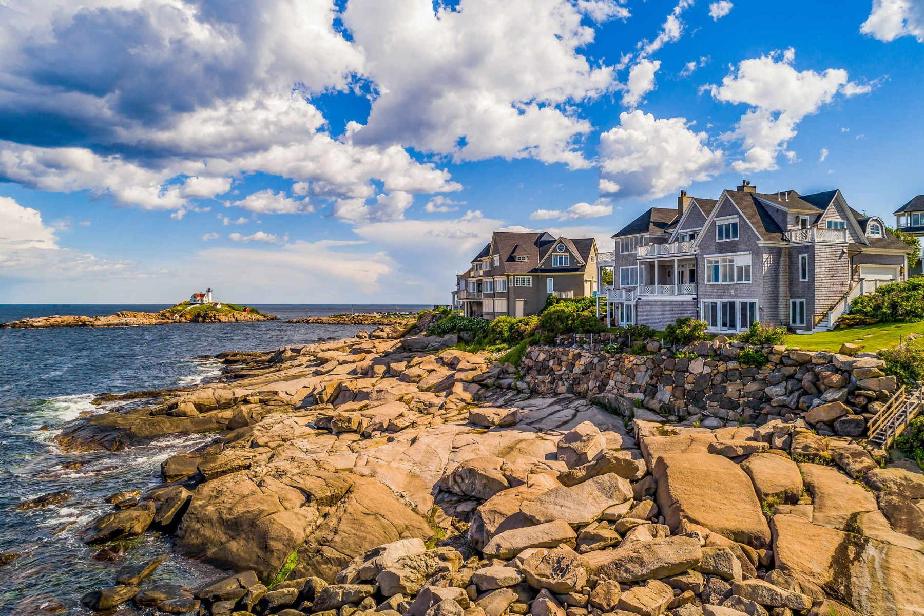 Single Family Homes for Sale at Grand Oceanfront Home at Lighthouse Watch 4 Lighthouse Watch, York, Maine 03909 United States