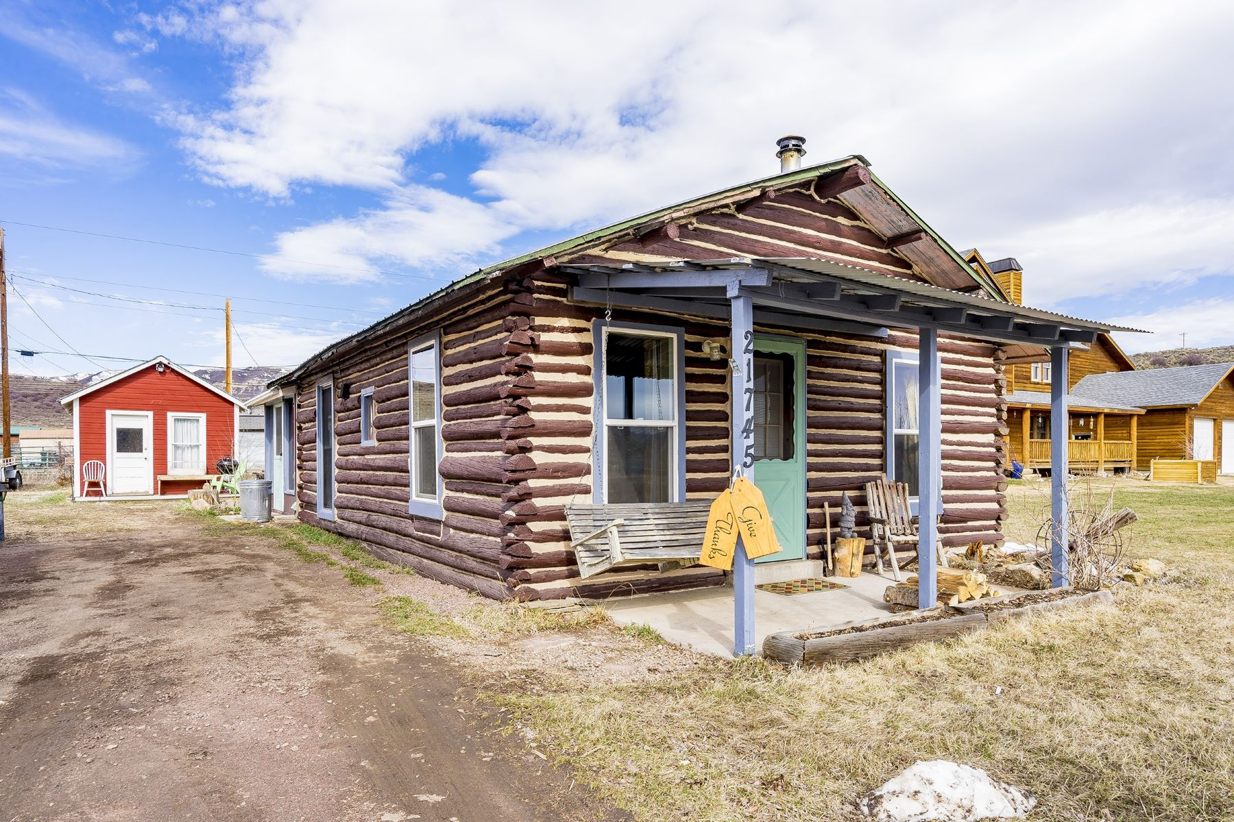 Single Family Home for Active at Log Bungalow in Phippsburg 21745 State Hwy 131 Phippsburg, Colorado 80469 United States