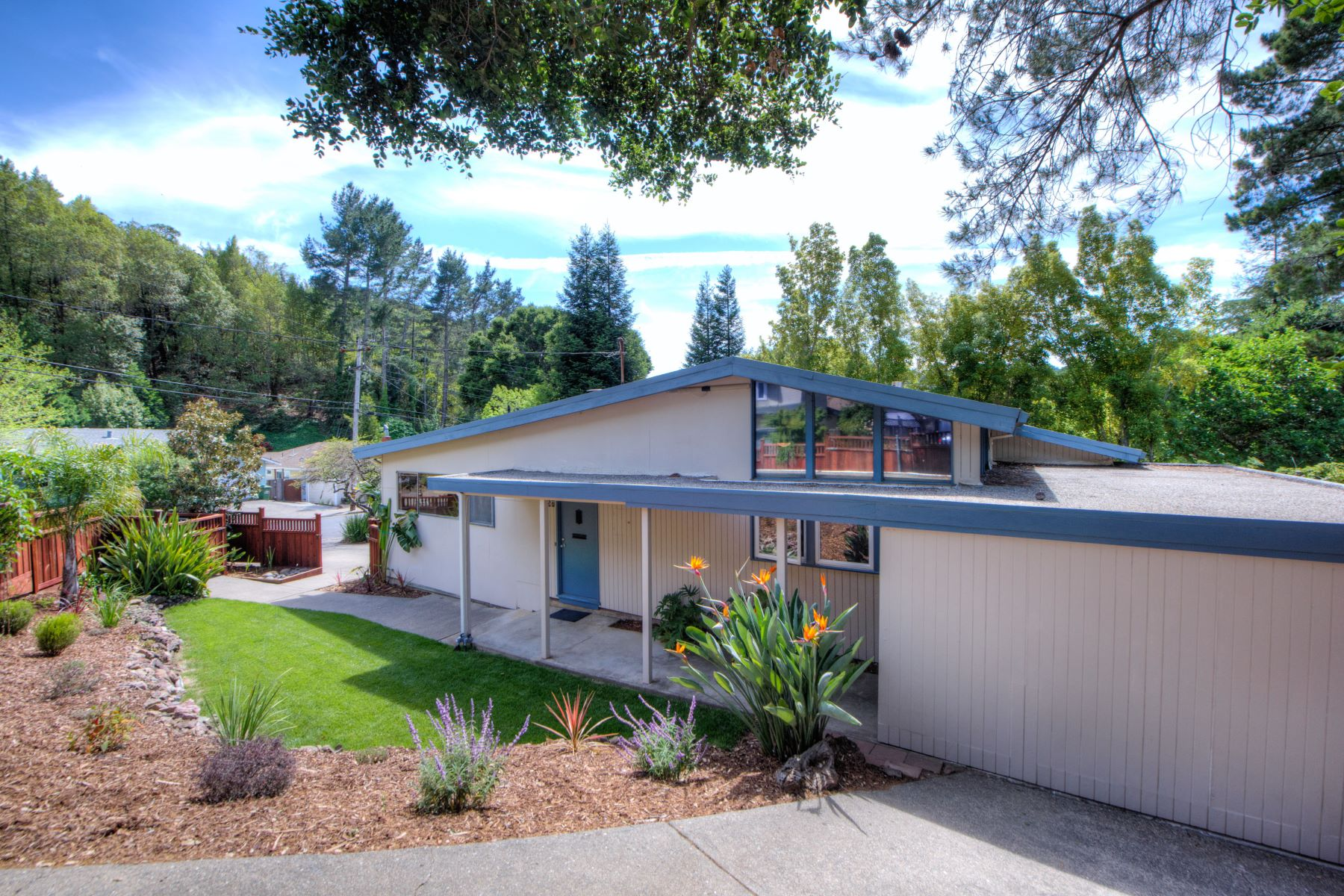 Single Family Home for Sale at Classic Mid Century Modern 57 San Gabriel Drive Fairfax, California 94930 United States