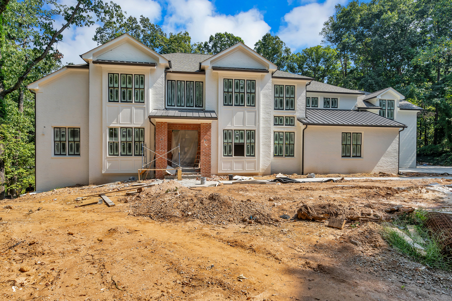 Single Family Homes for Sale at New Painted Brick Traditional on 1.5+/- Acres Inside I-285 5571 Arundel Drive Sandy Springs, Georgia 30327 United States