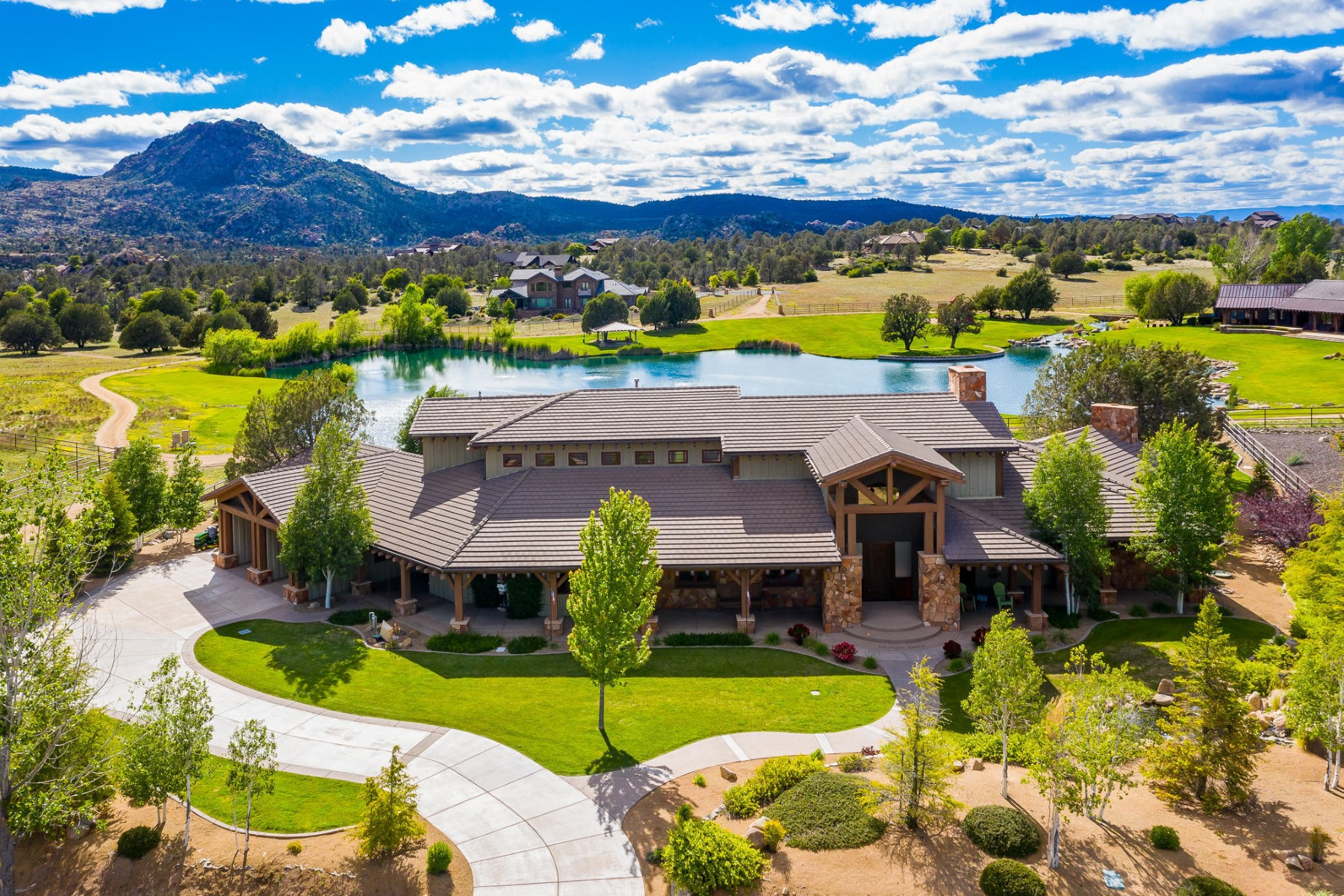 single family homes for Active at Captivating Custom Ranch Home 9120 N American Ranch Rd Prescott, Arizona 86305 United States