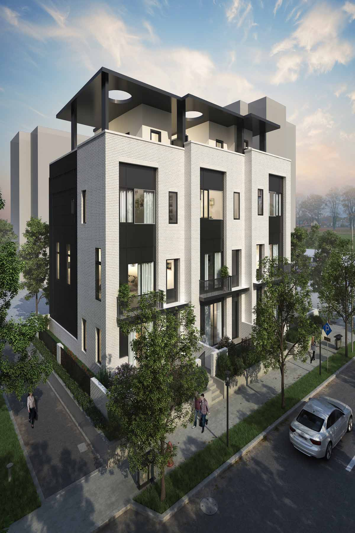 Moradia em banda para Venda às Built by Award Winning TSW Architects and Cable Enterprises 1137 Ponce De Leon Avenue NE Unit 2 Atlanta, Geórgia, 30306 Estados Unidos